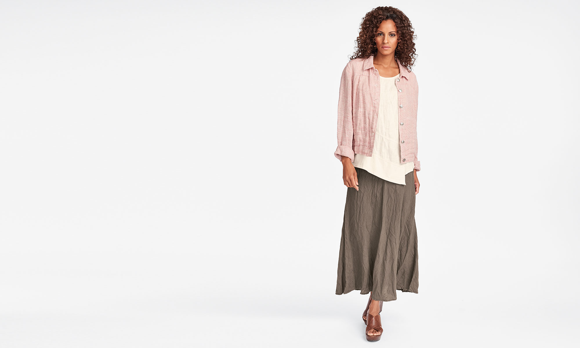 flax womens linen shirt jacket and dress