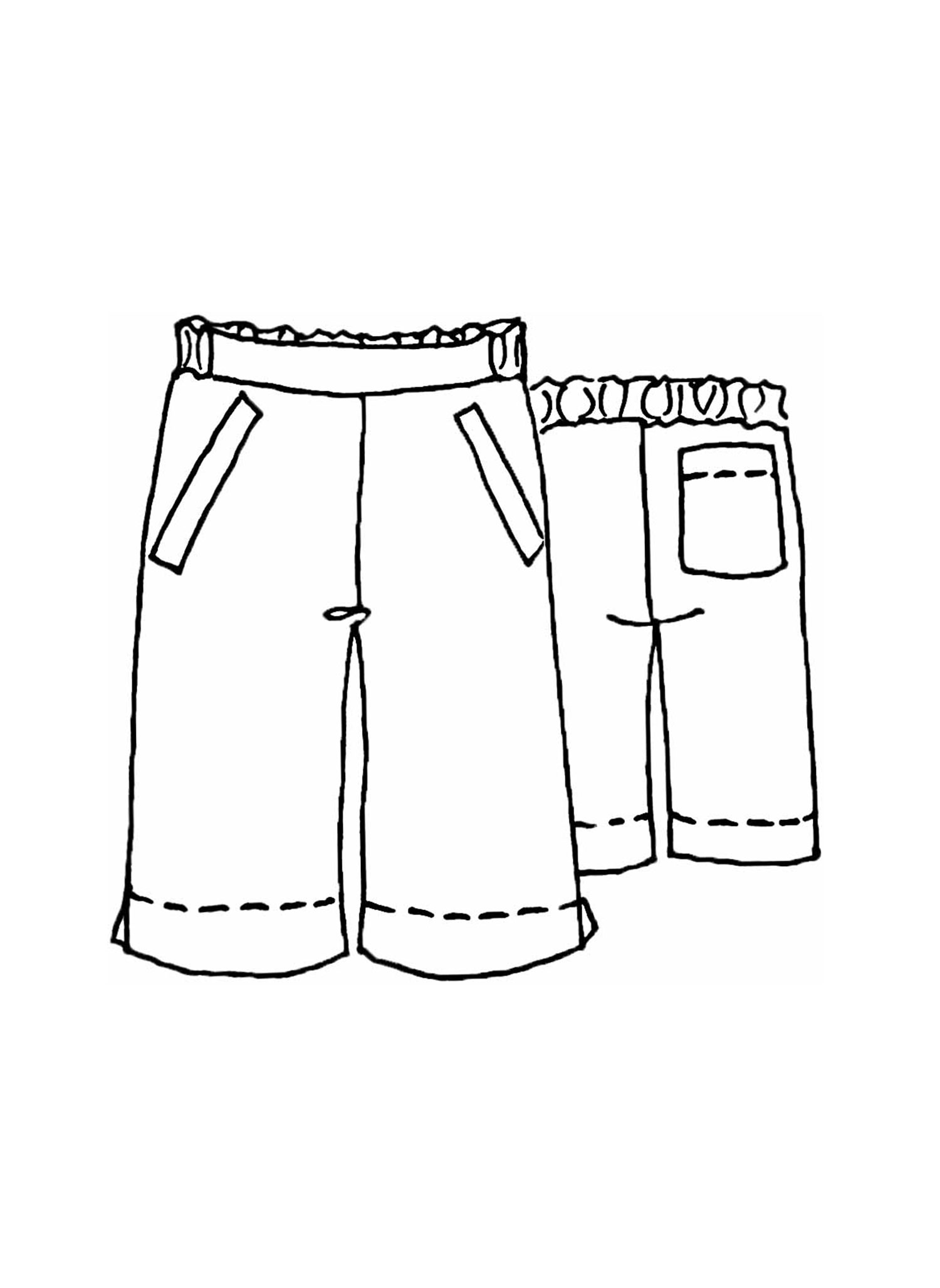 Explorer Shorts sketch image