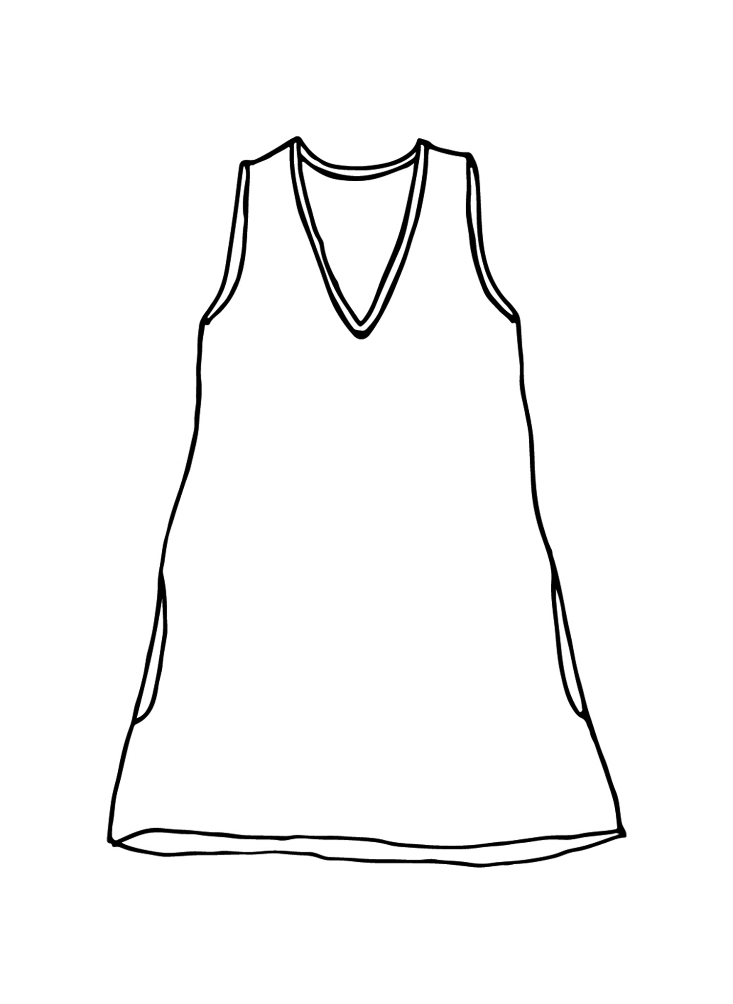 V-Neck Tunic sketch image