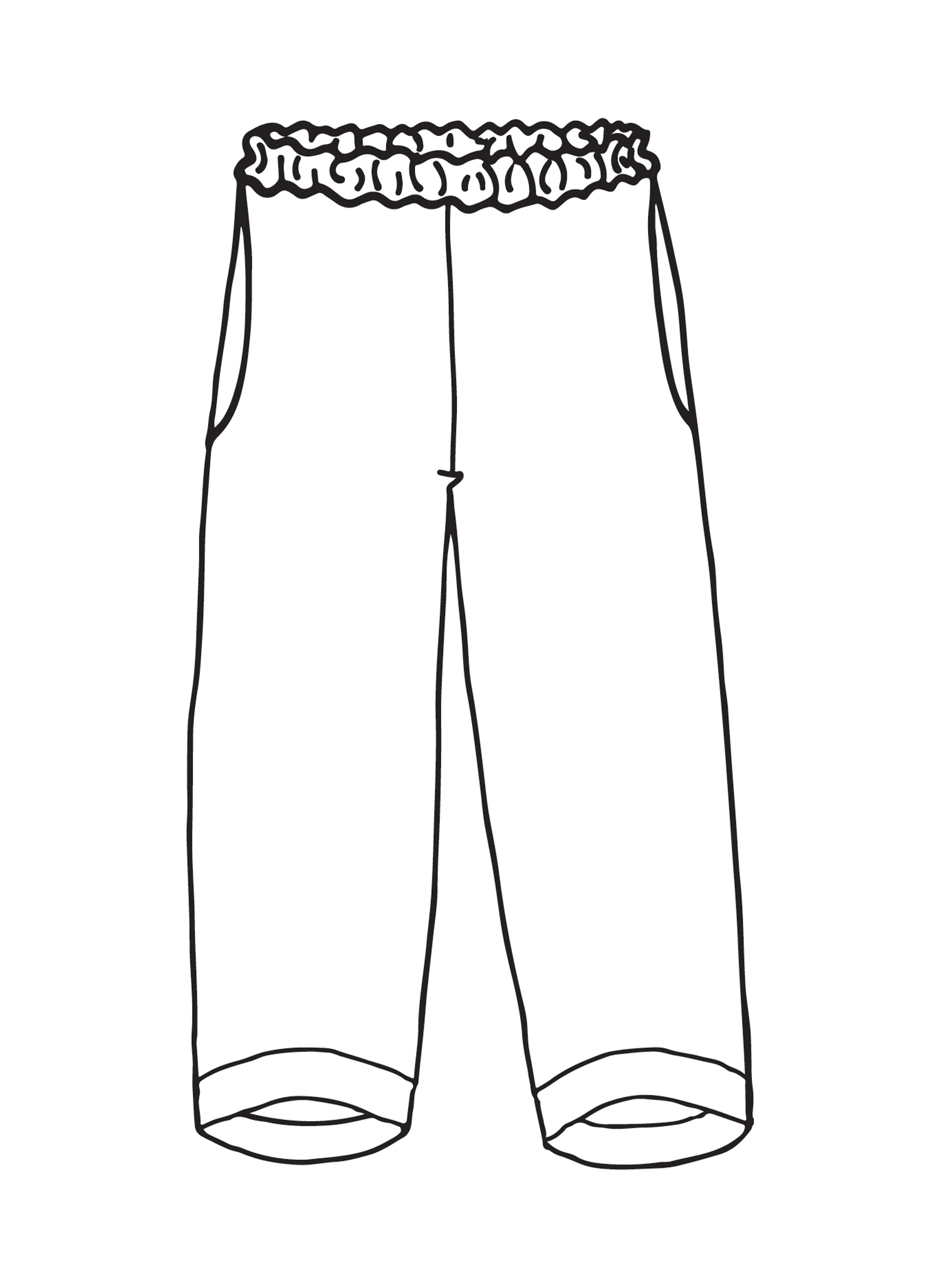 Cropped Pant sketch image