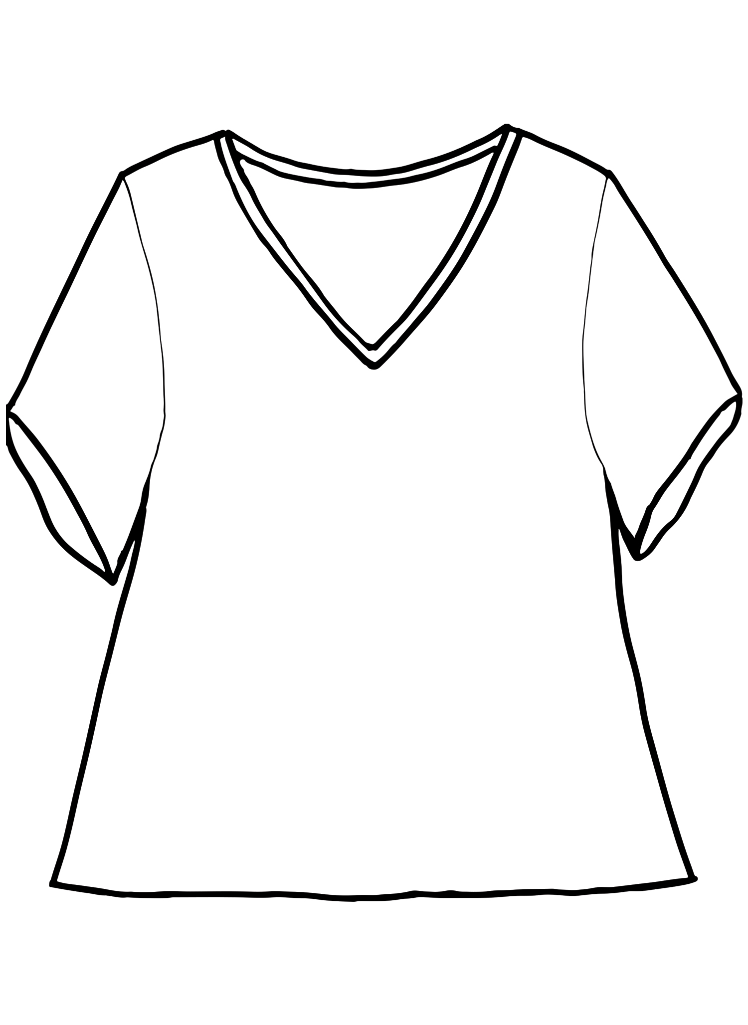 S/S Crop V sketch image