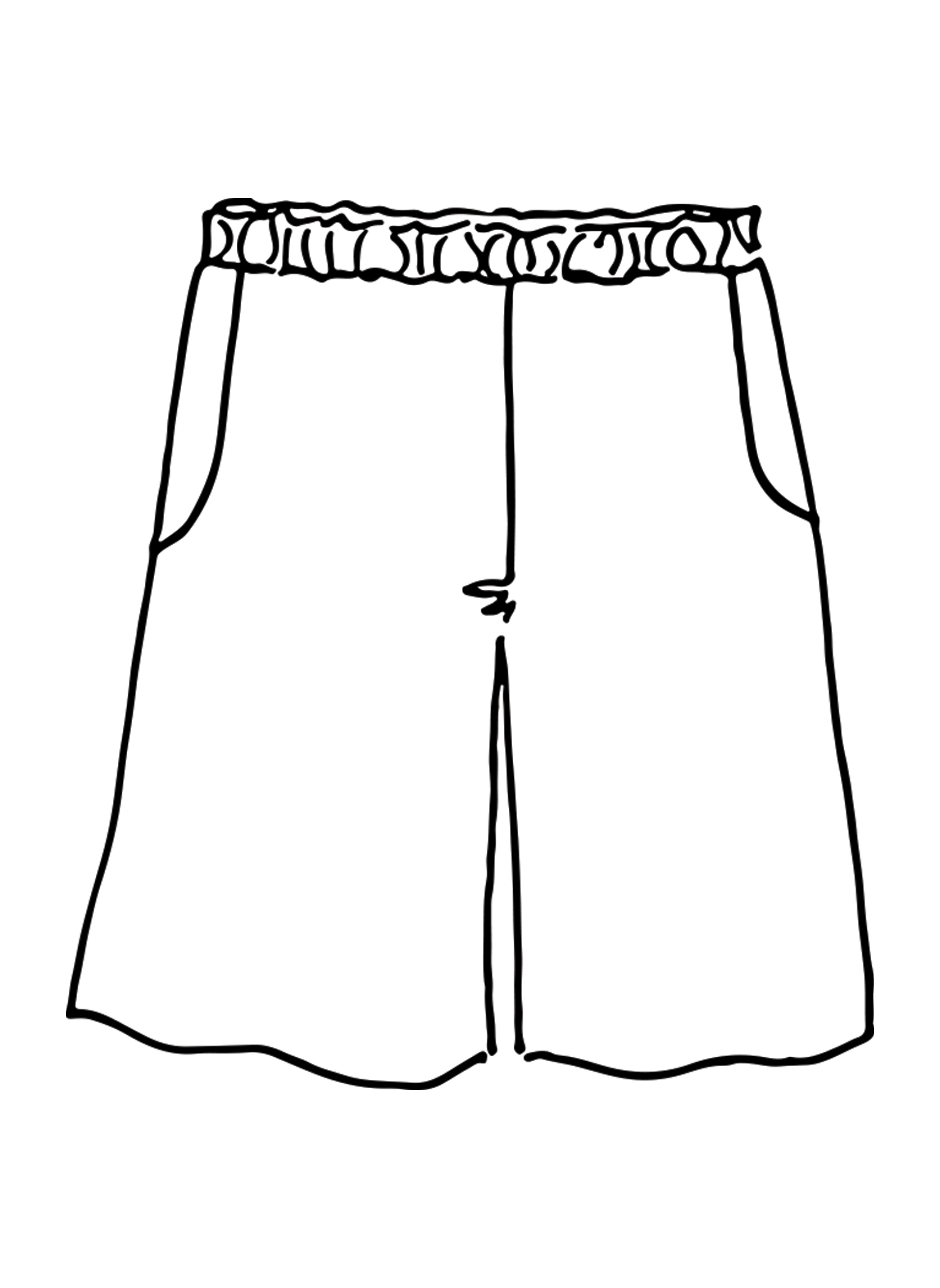 Sun Shorts sketch image