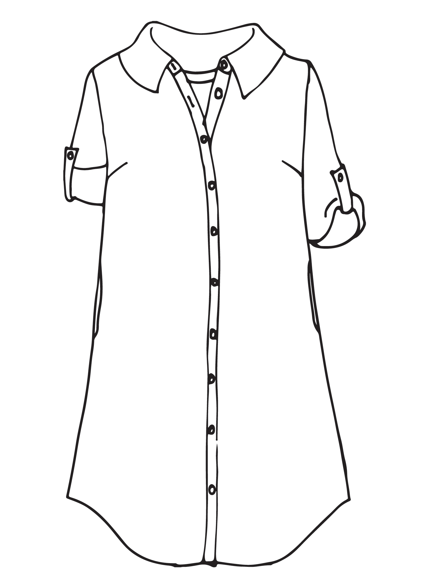 Work Shirt Dress sketch image