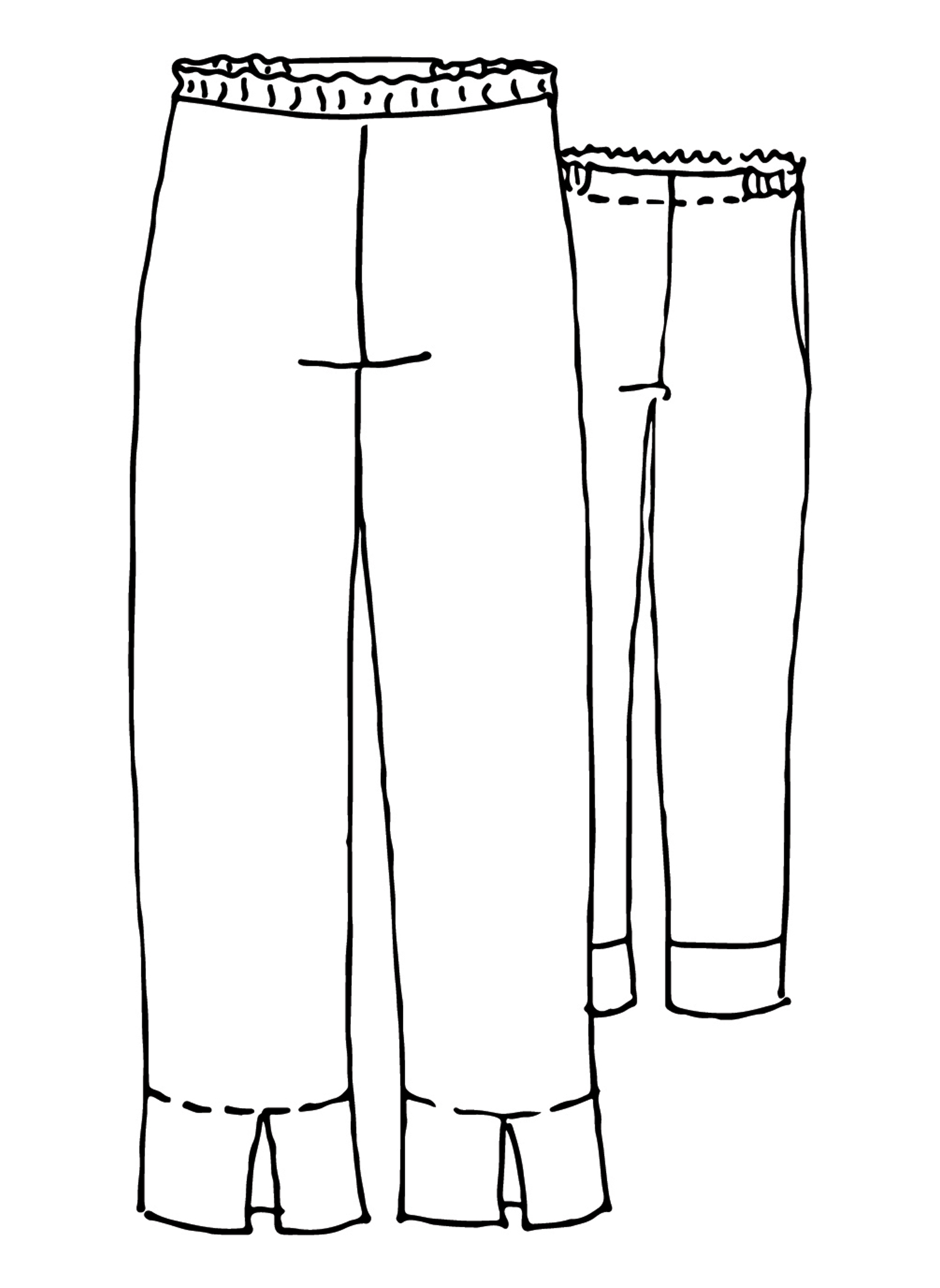 Travel Pant sketch image
