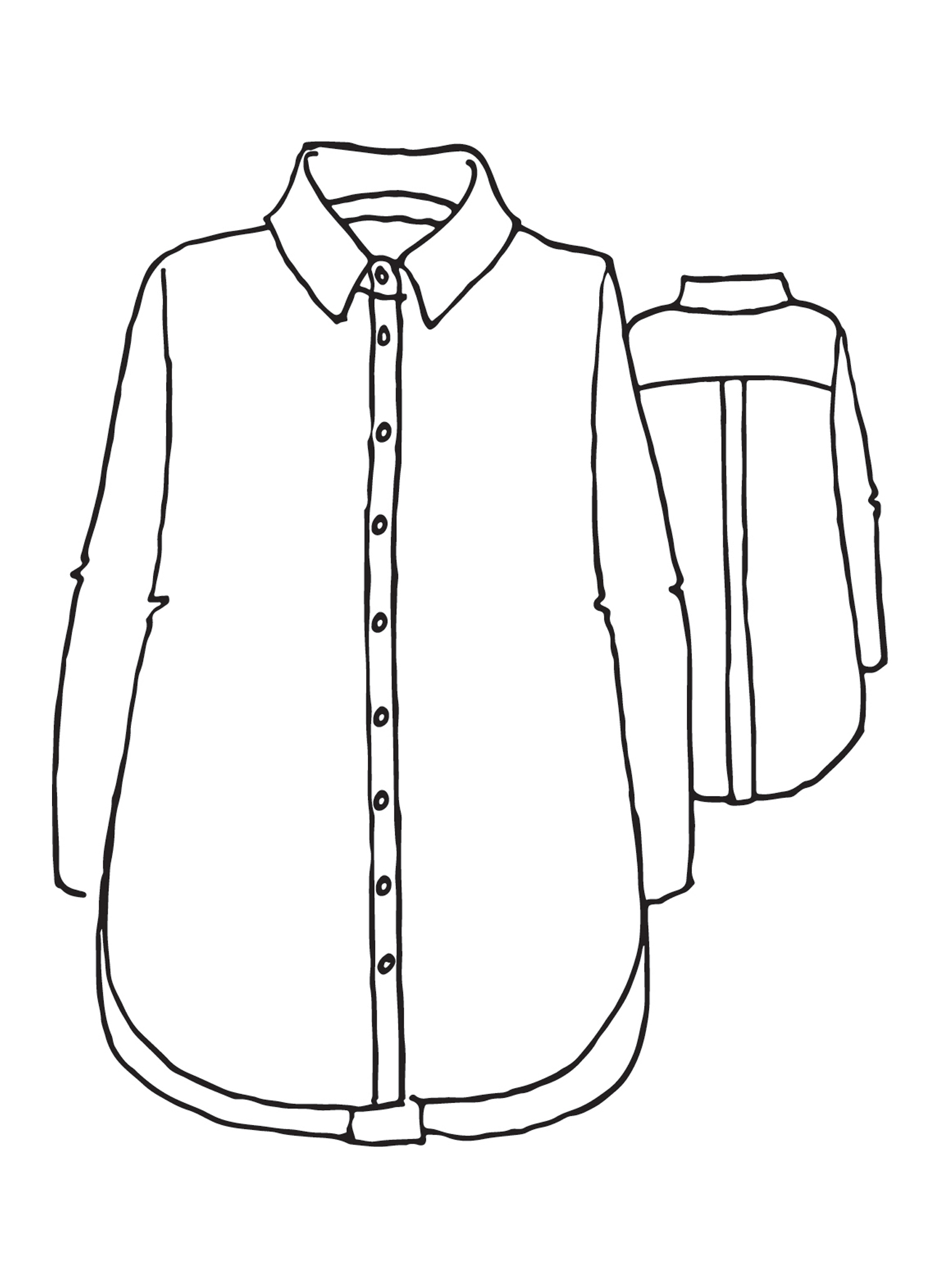 Crossroads Blouse sketch image