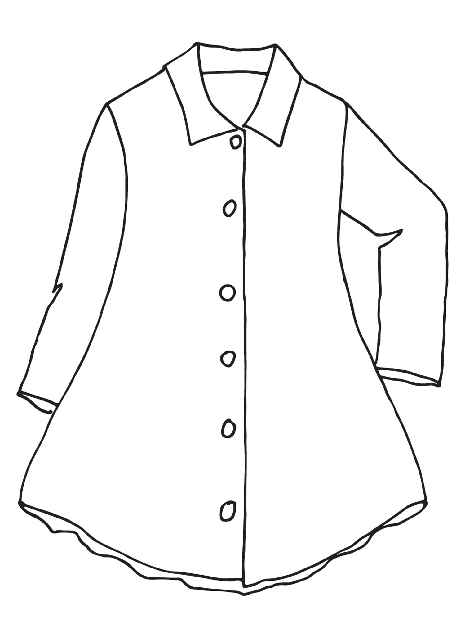 Bias Back Jacket sketch image