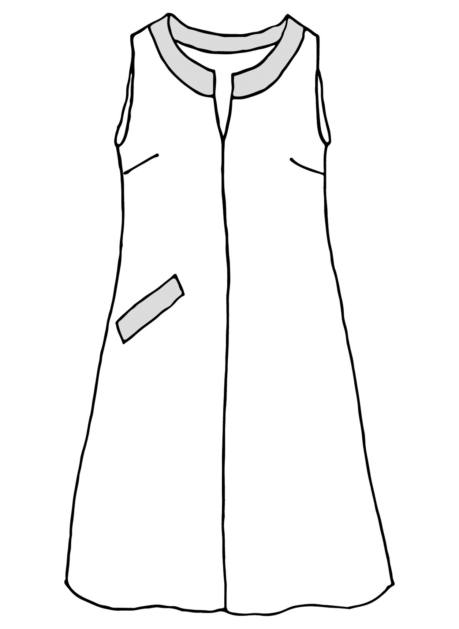 Charming Dress sketch image