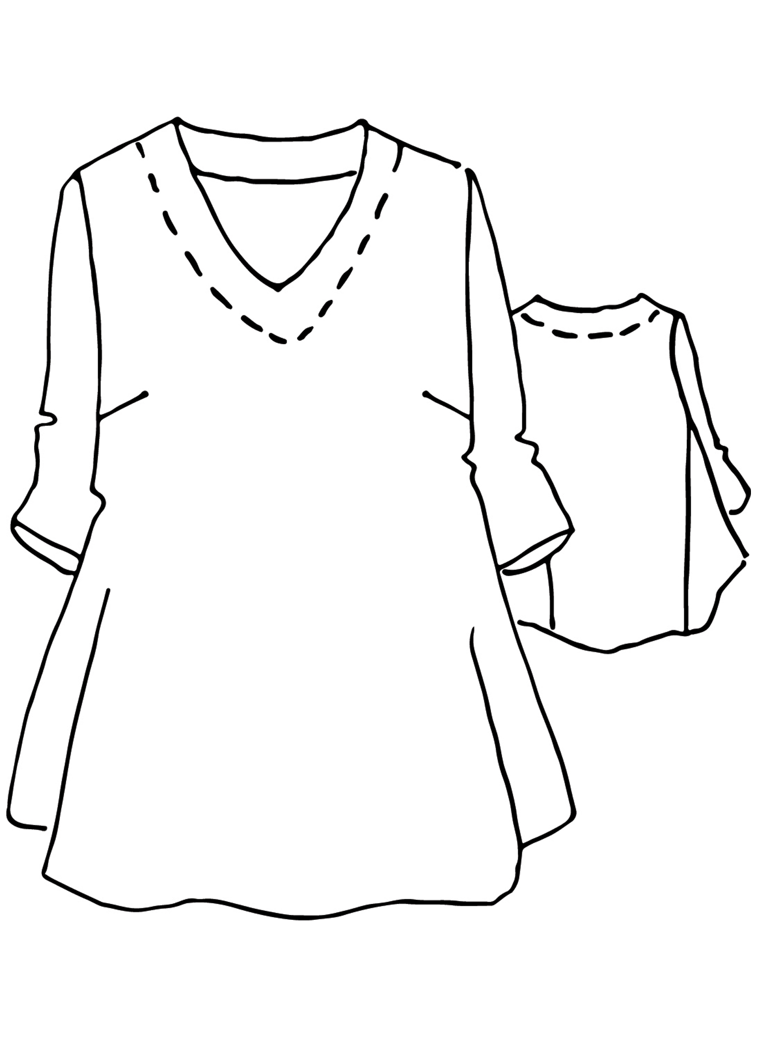 Bloom Tunic sketch image