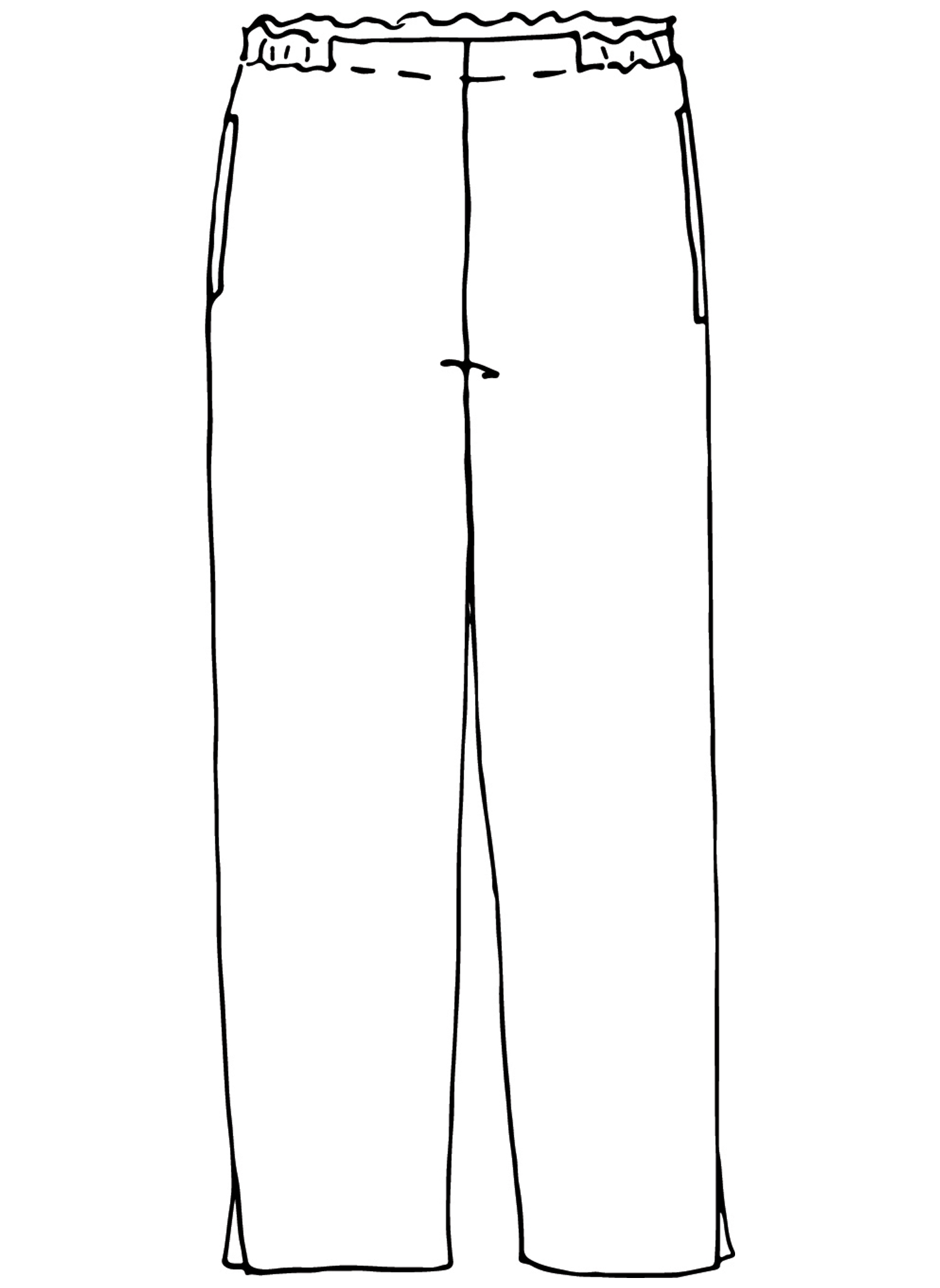 Pocketed Ankle Pant sketch image