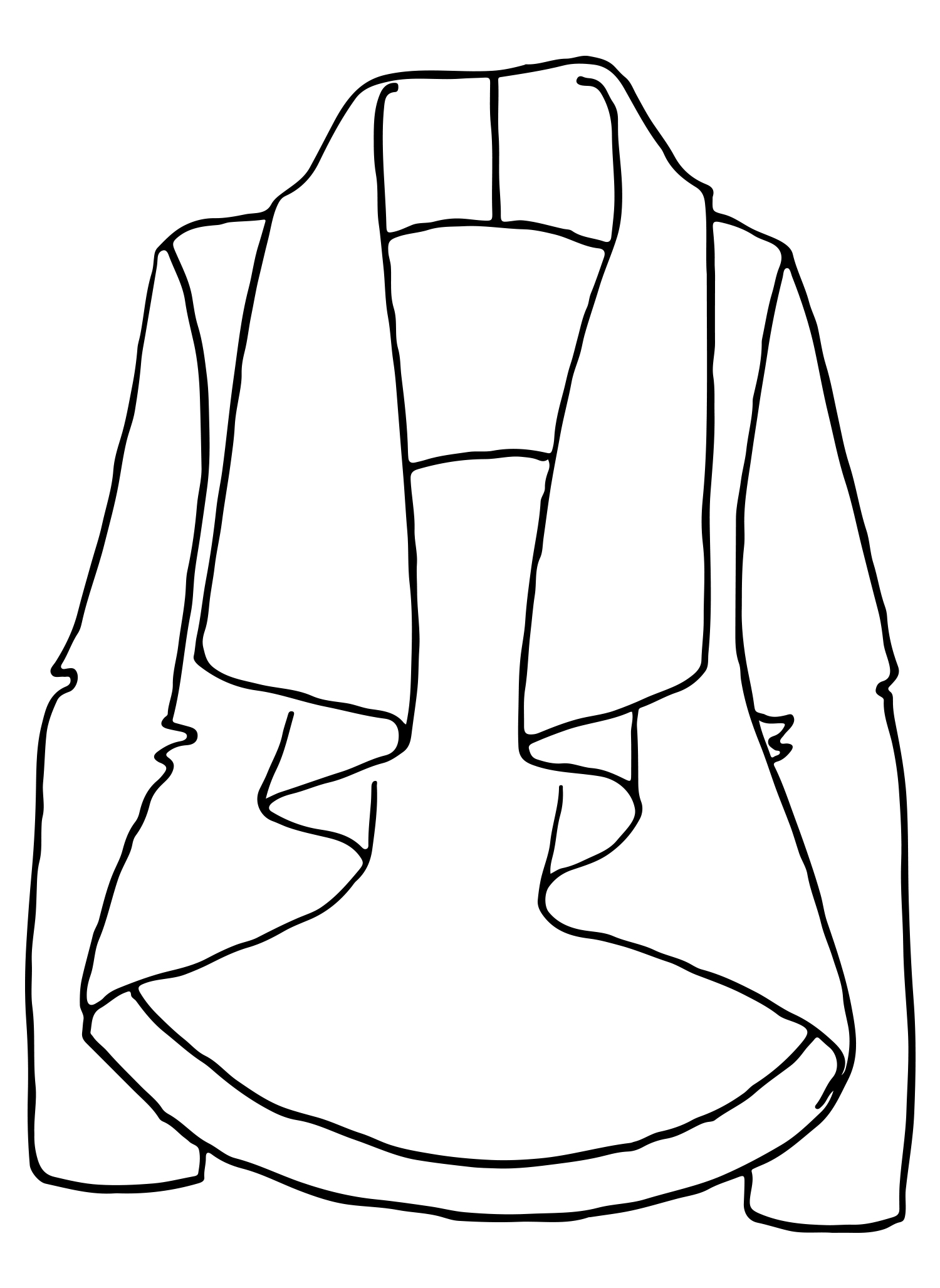 Throw And Go Jacket sketch image