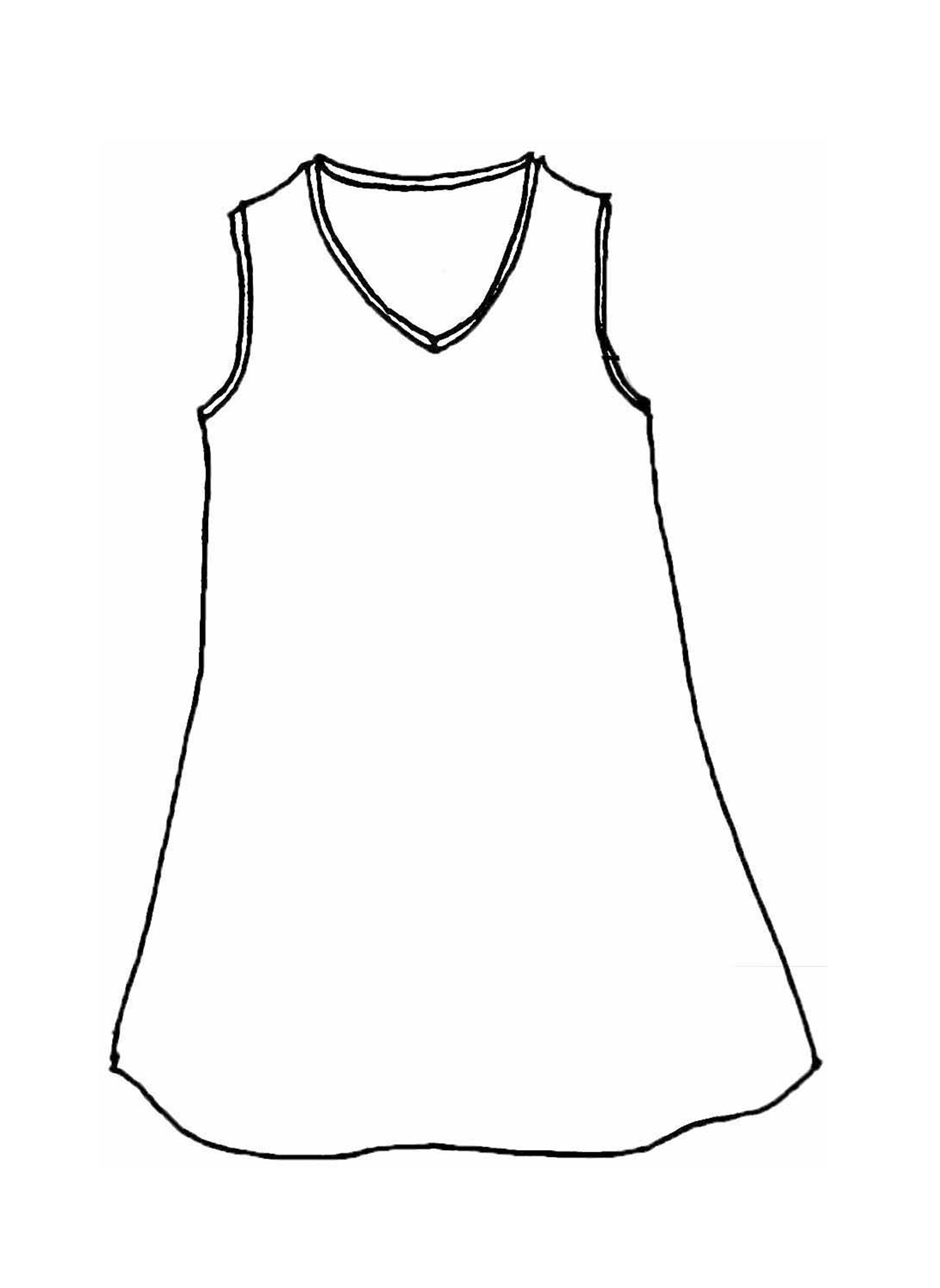 Layer V-Neck Tunic sketch image