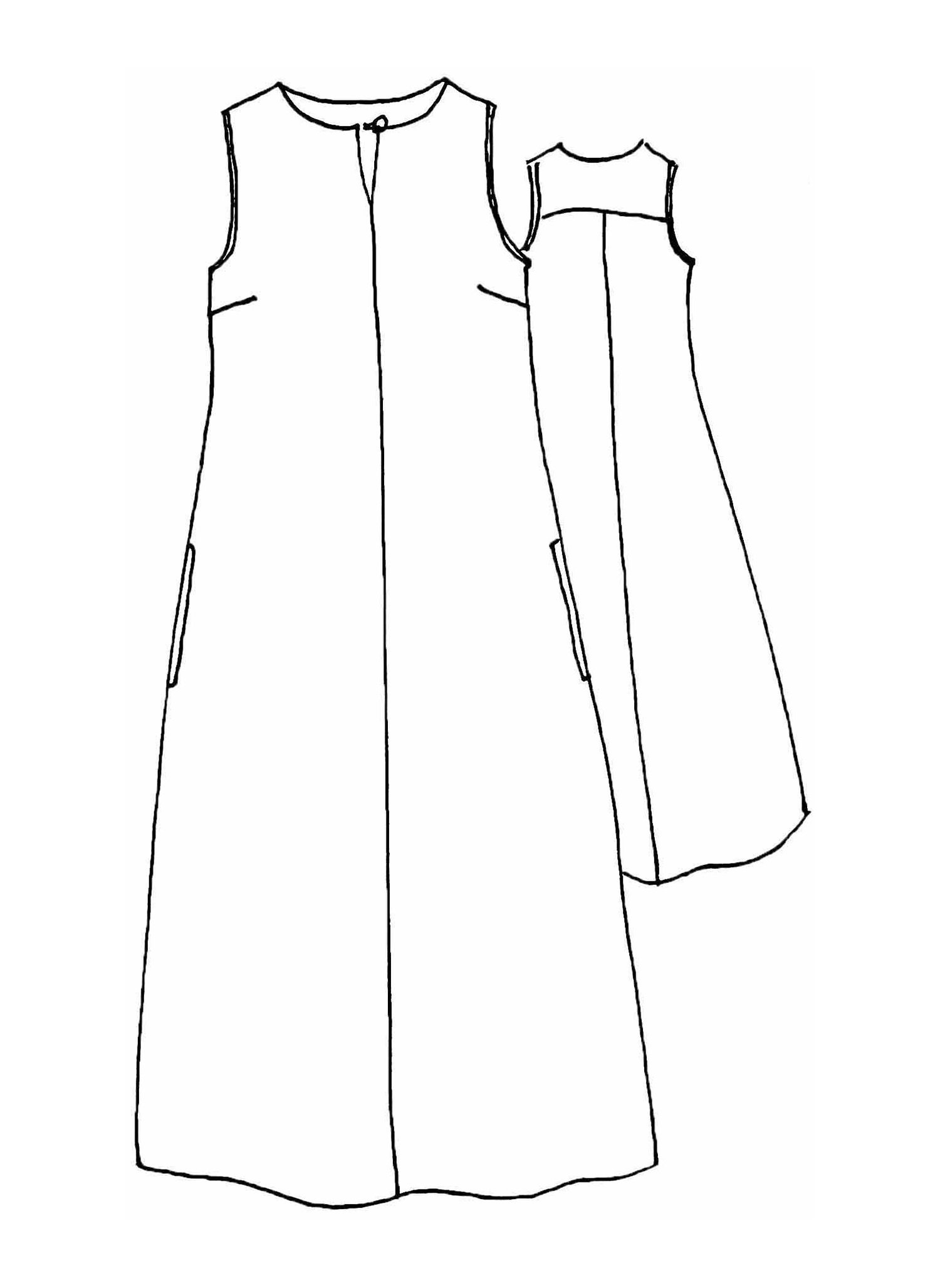 Keyhole Dress sketch image