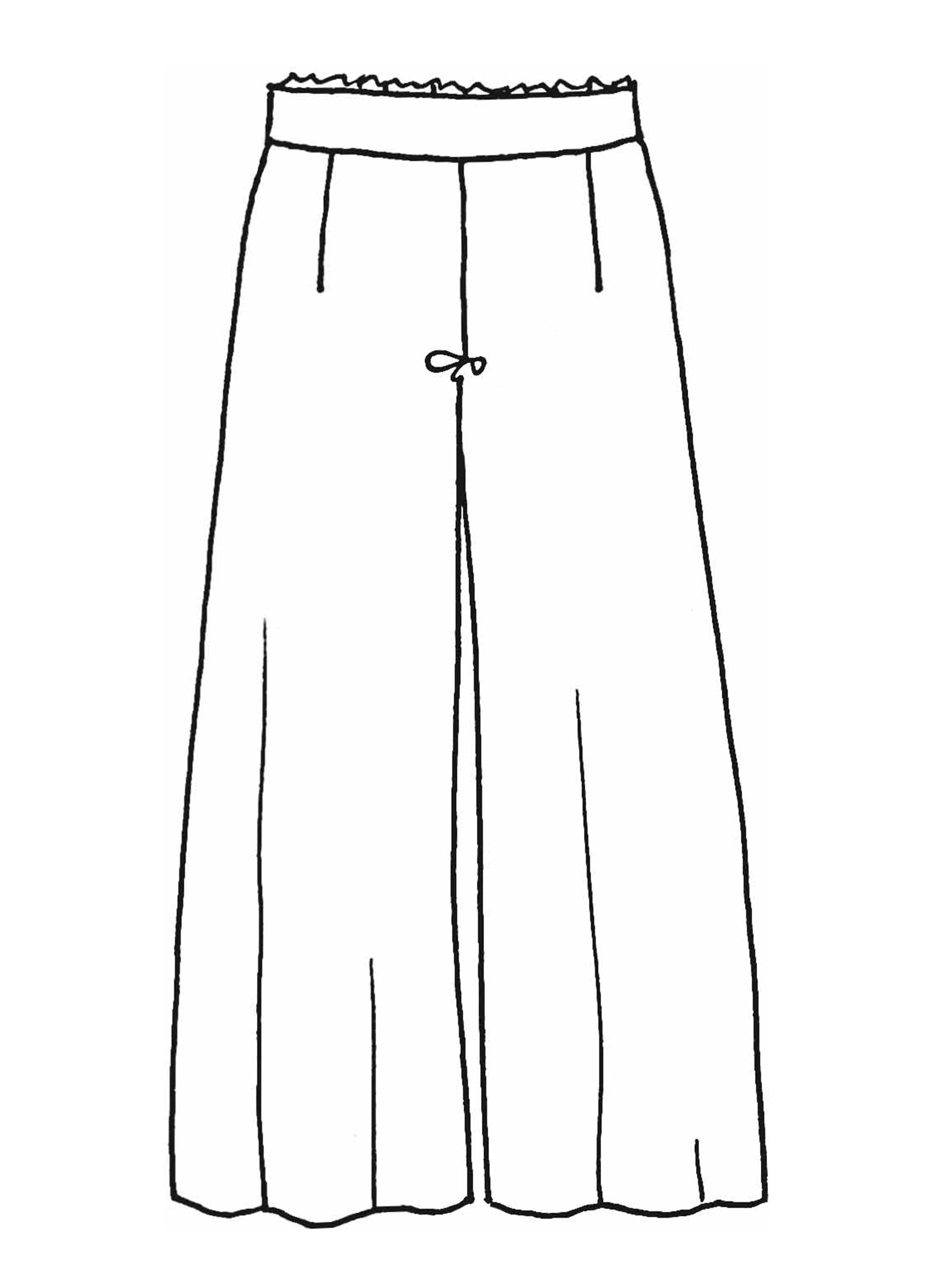 Wide Leg Cropped sketch image