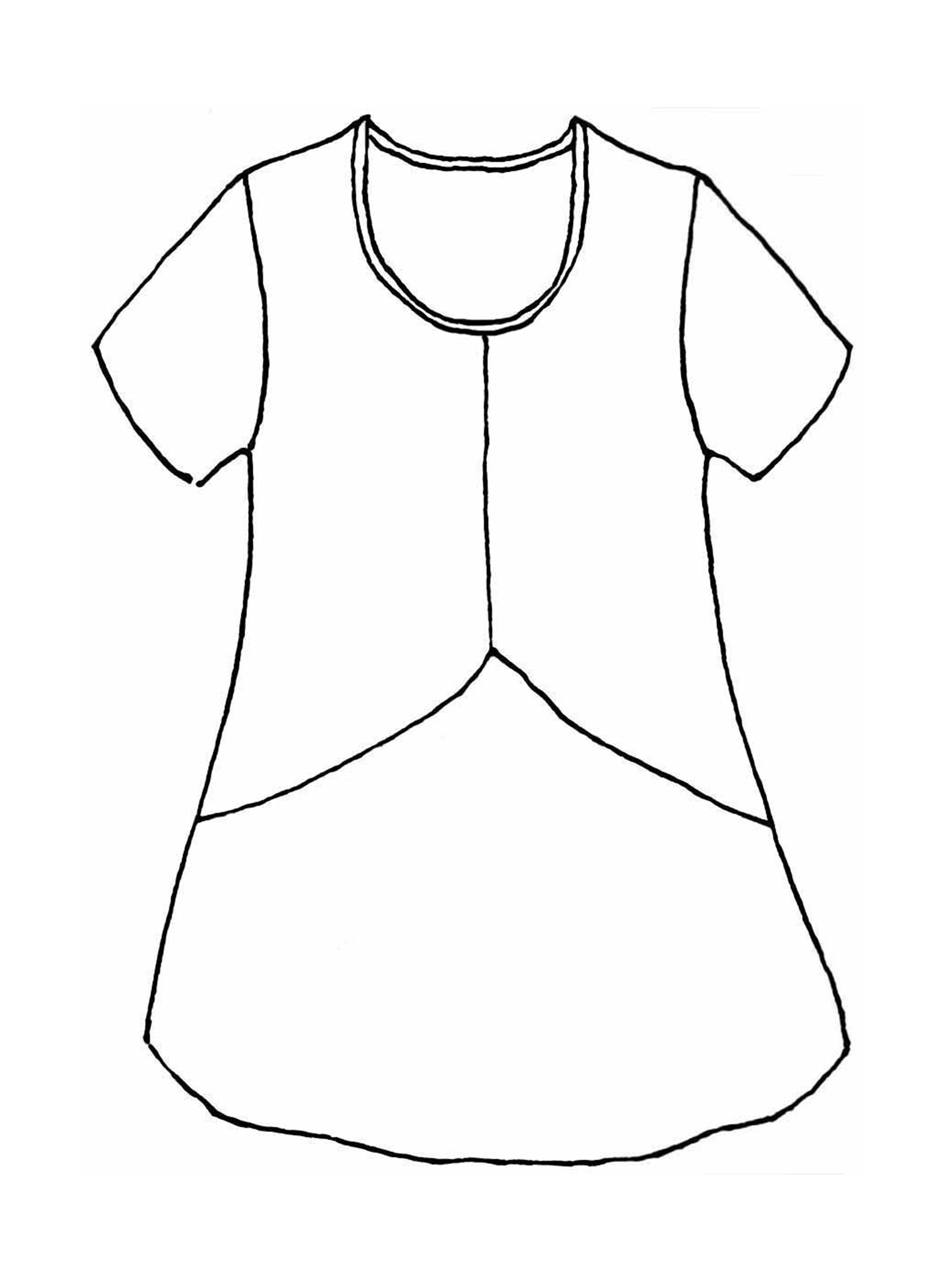 Simplest Tee sketch image