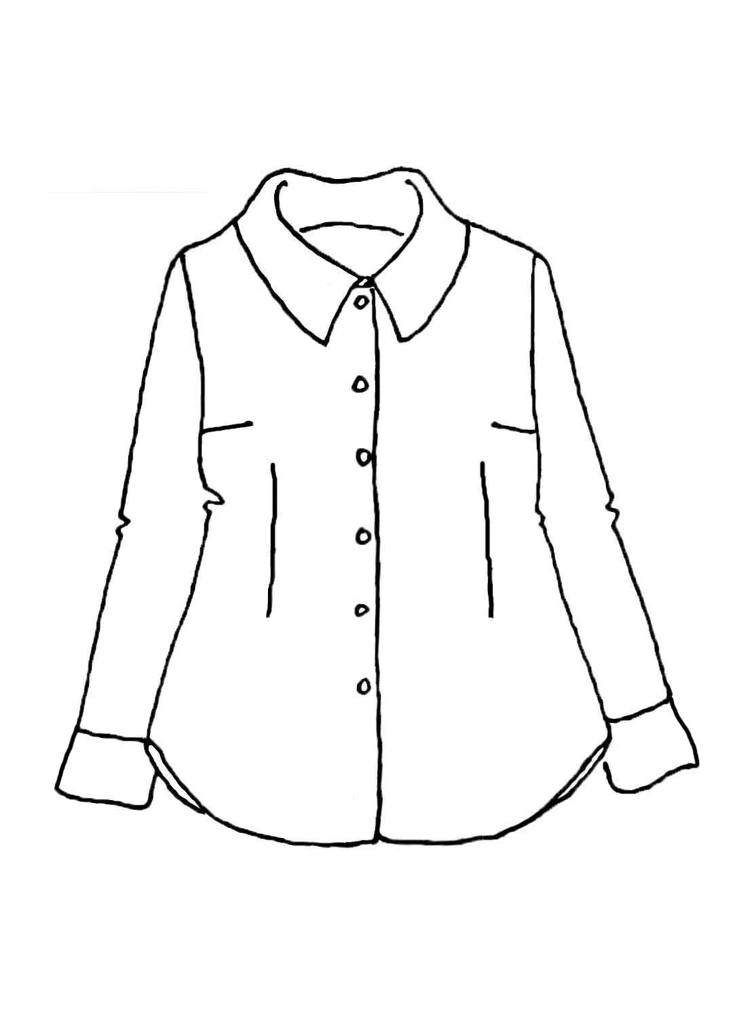 Exploring Blouse sketch image