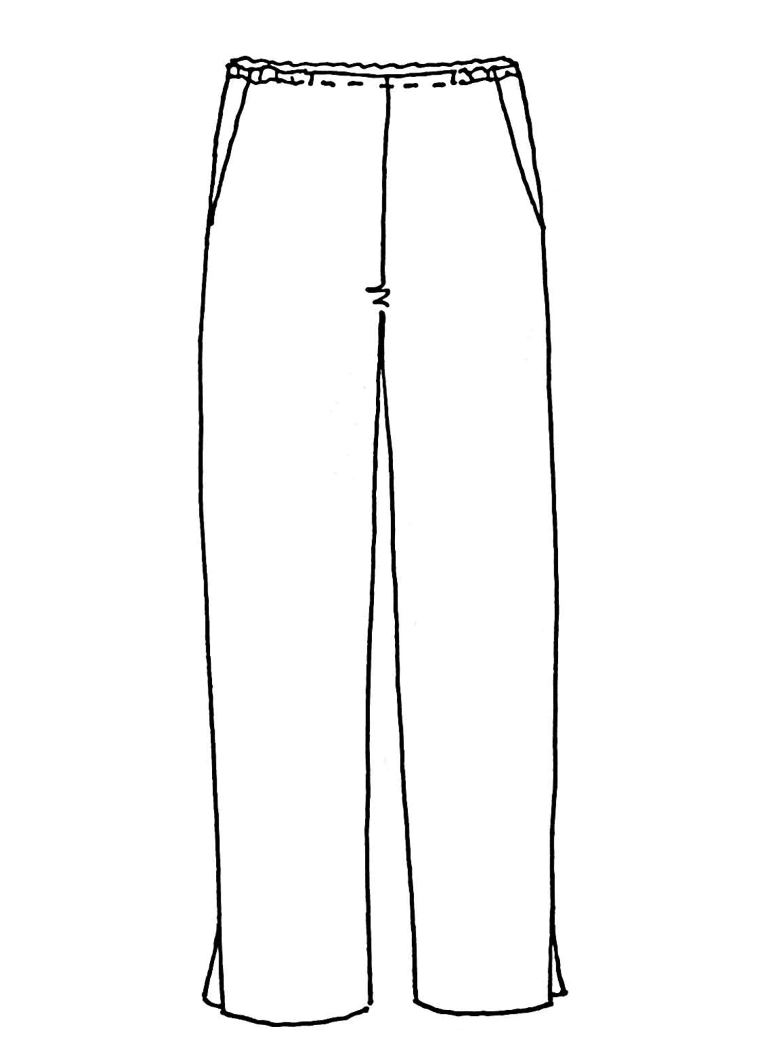 Pocketed Social Pant sketch image