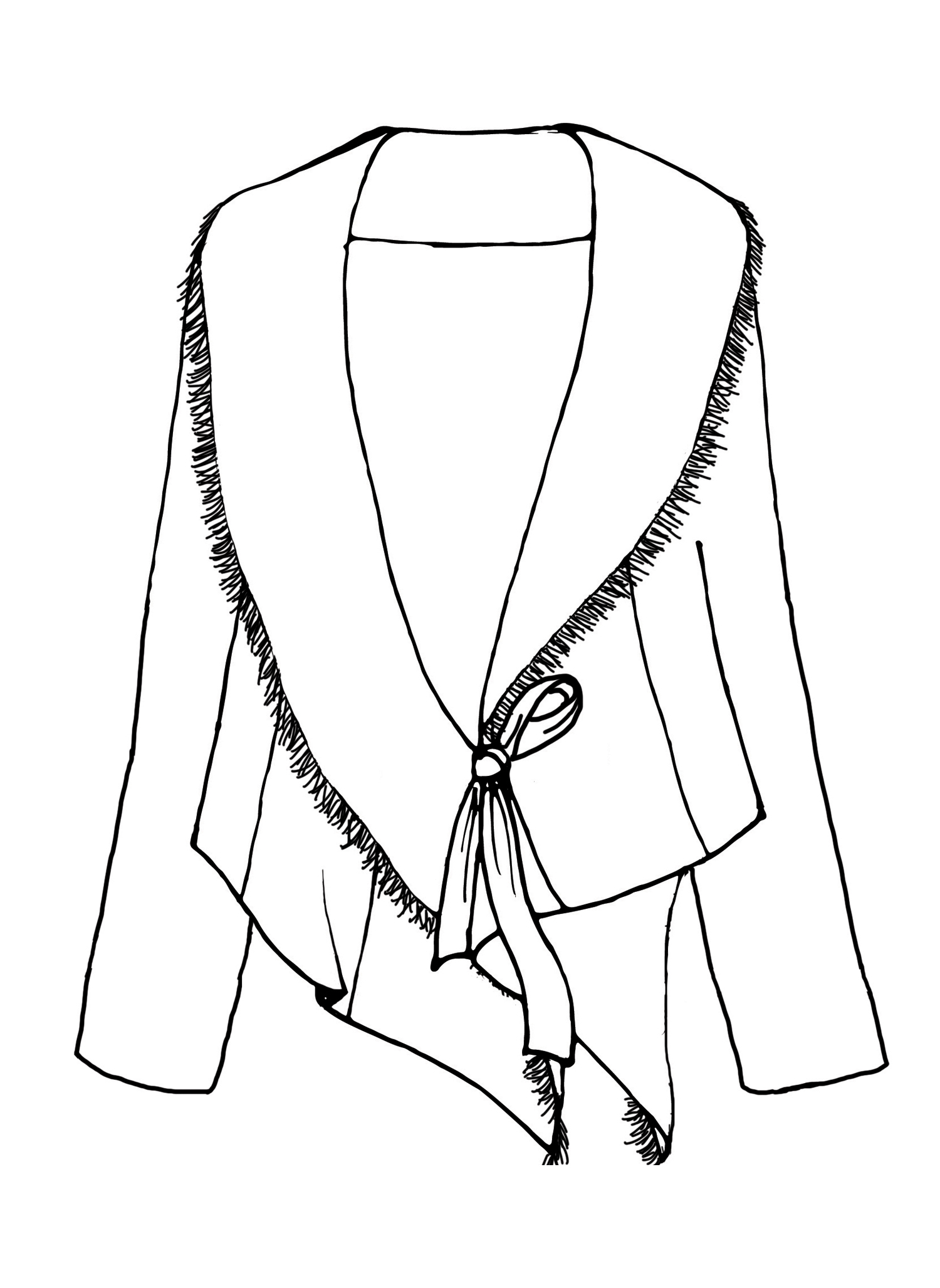 Draping Jacket sketch image