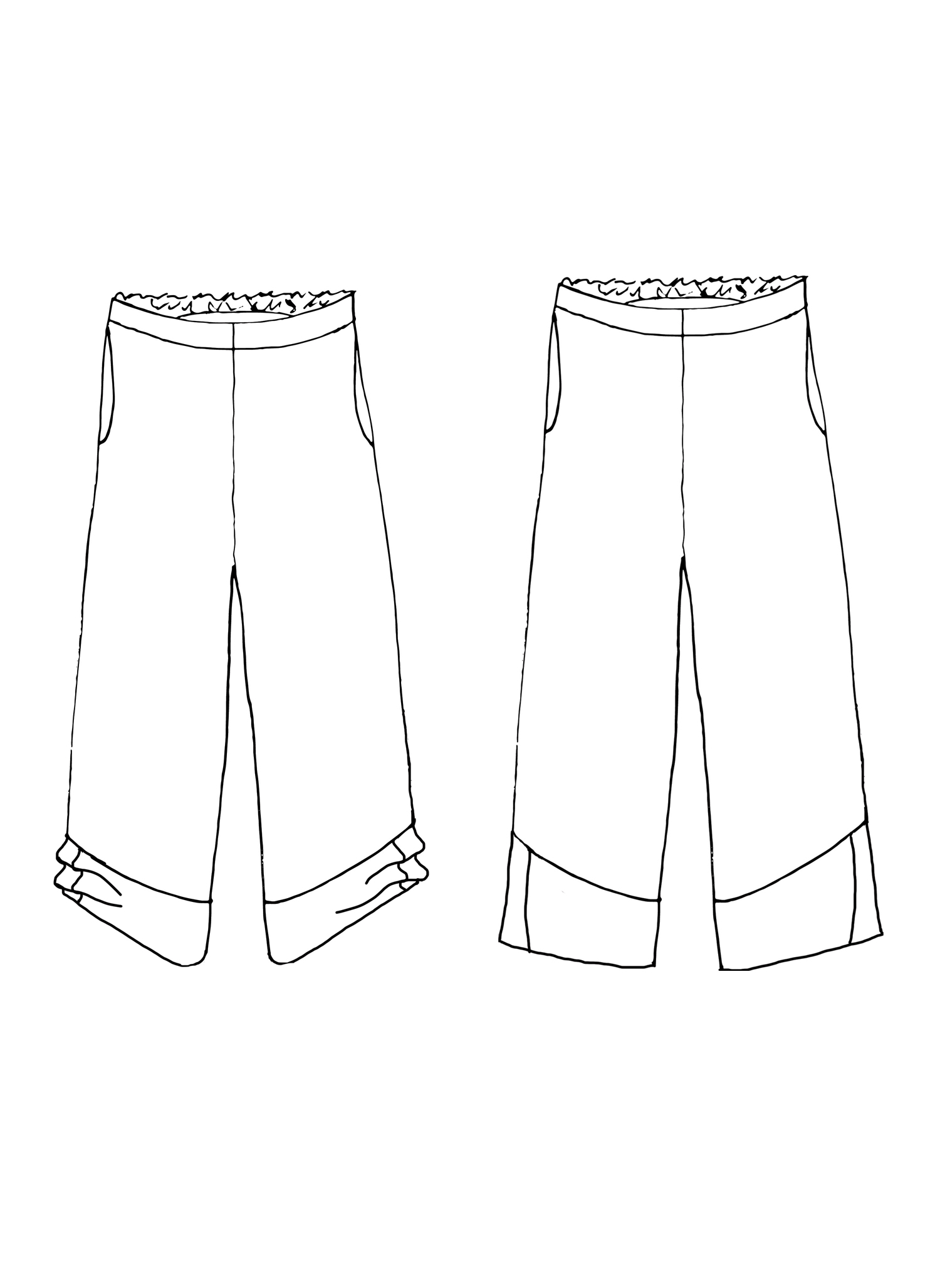 Multi-Facet Pant sketch image