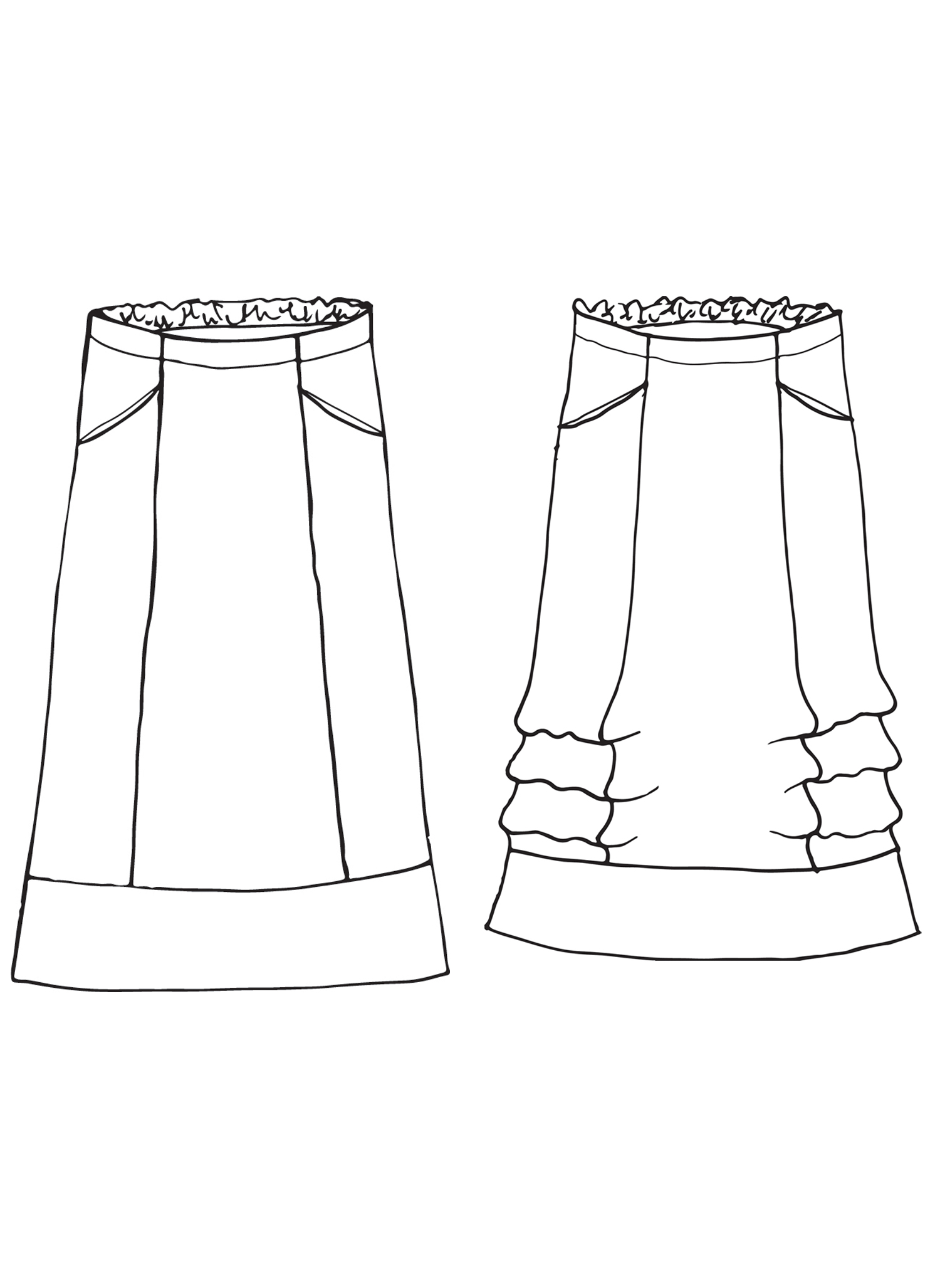 Multi-Facet Skirt sketch image