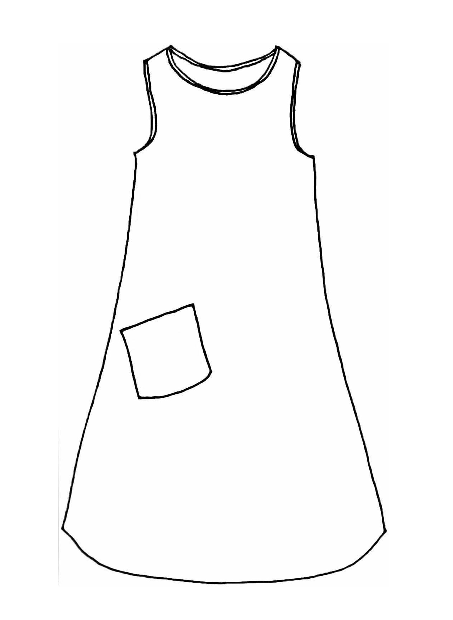 Riverwalk Dress sketch image