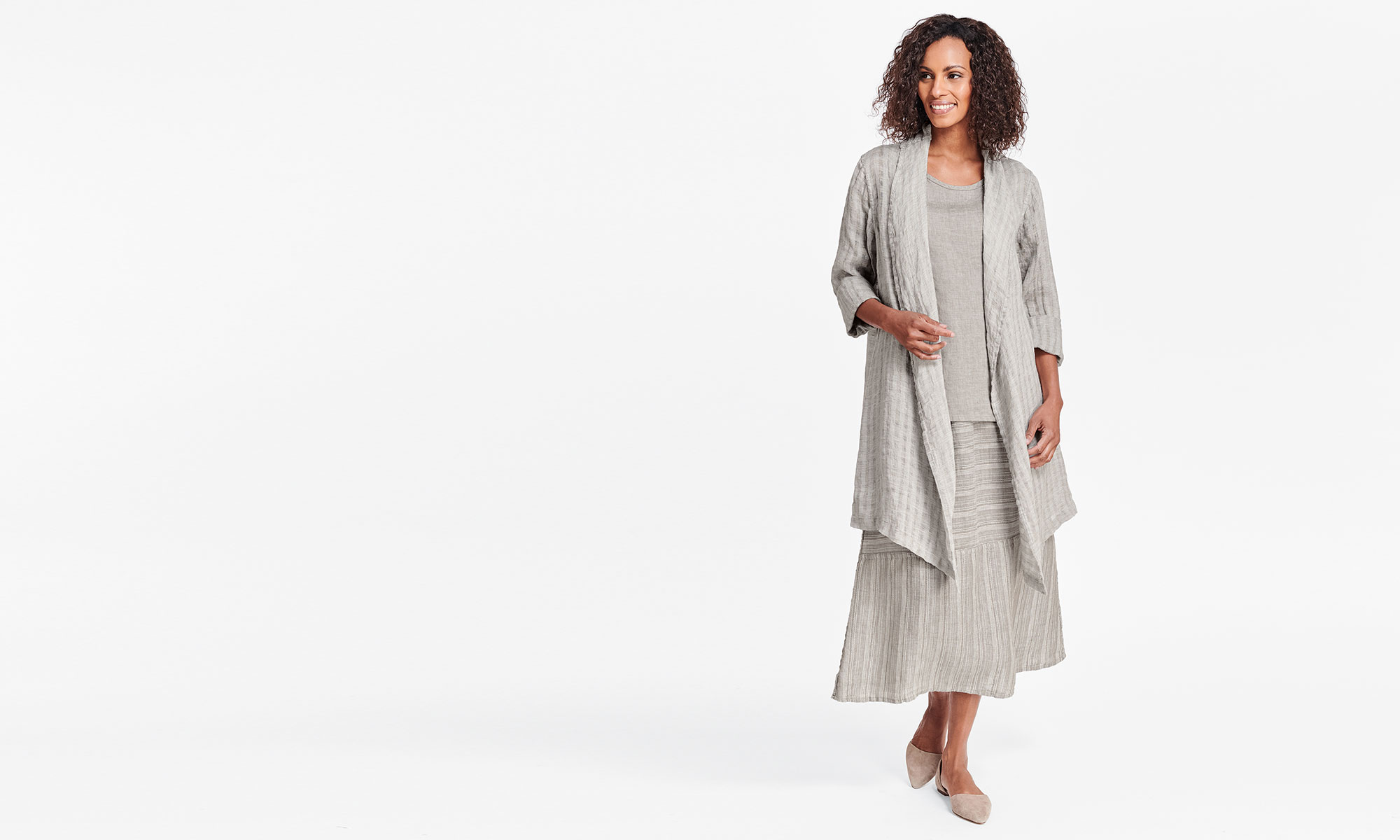 limited flax linen dress and top
