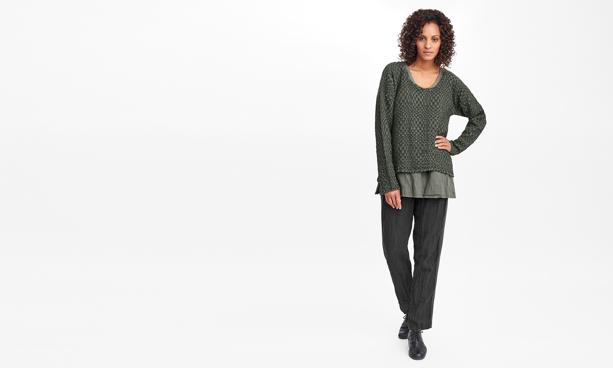 flax womens linen top and bottom for fall