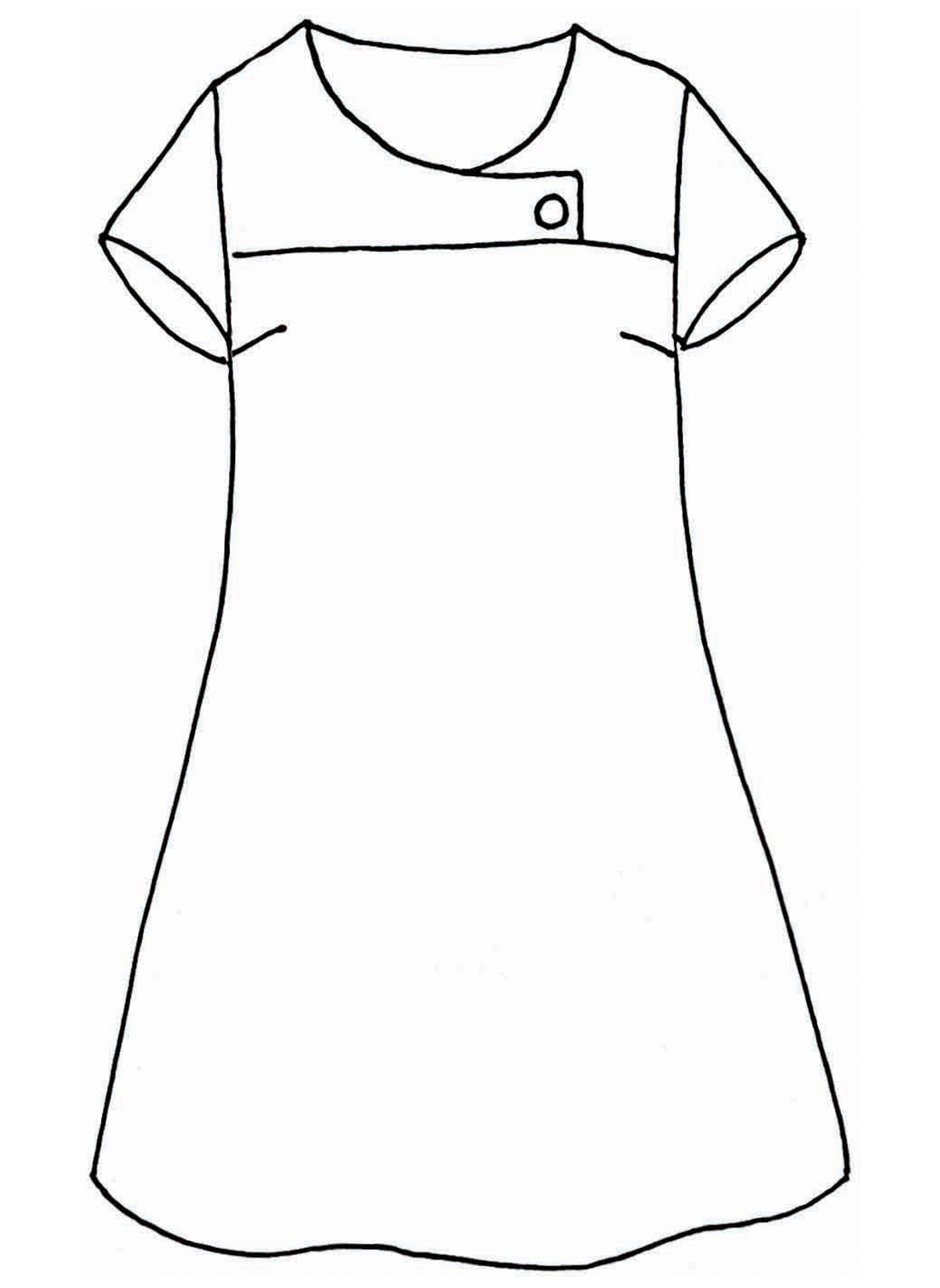 Button Dress sketch image