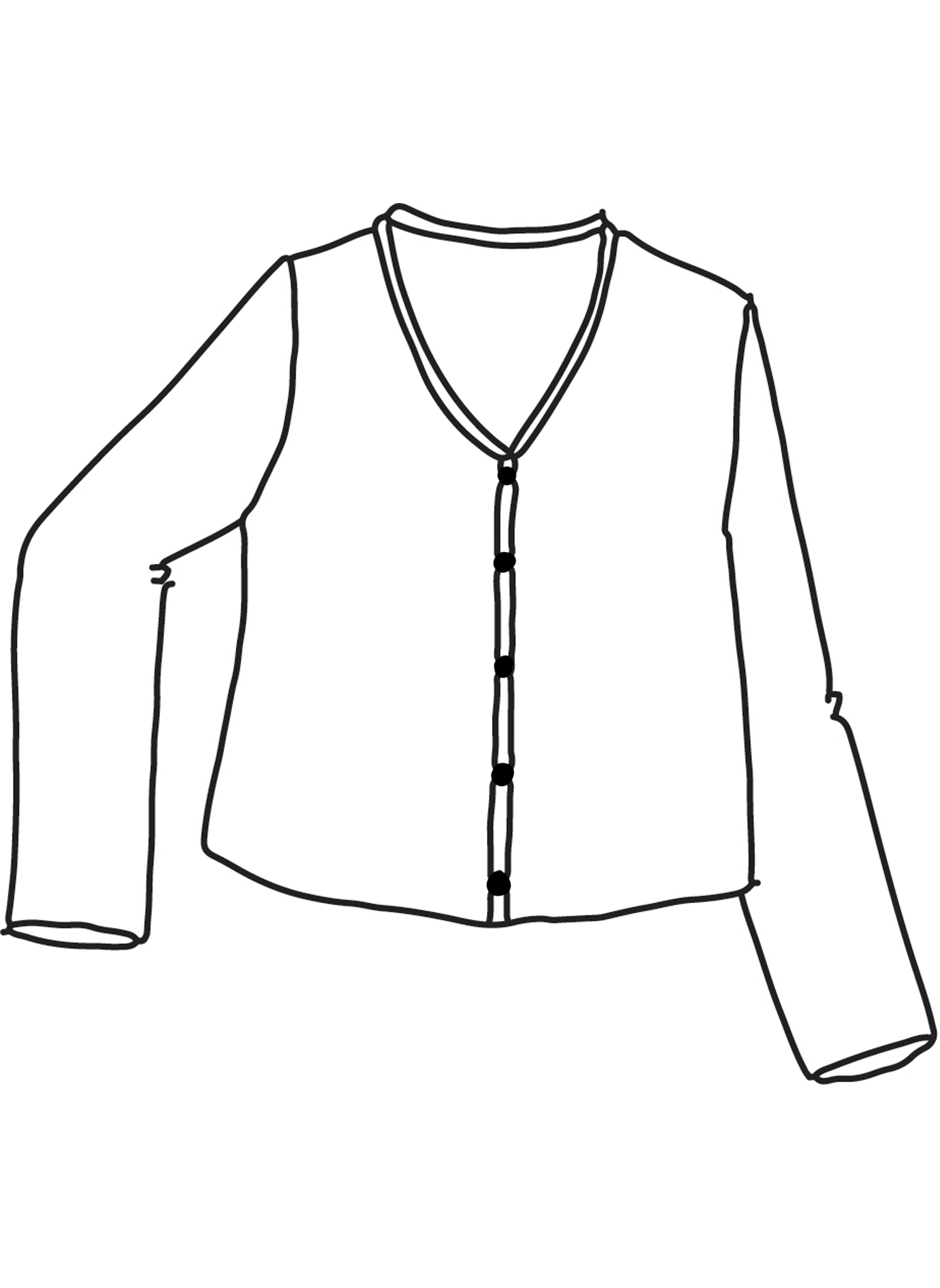 V Neck Cute Cardi sketch image