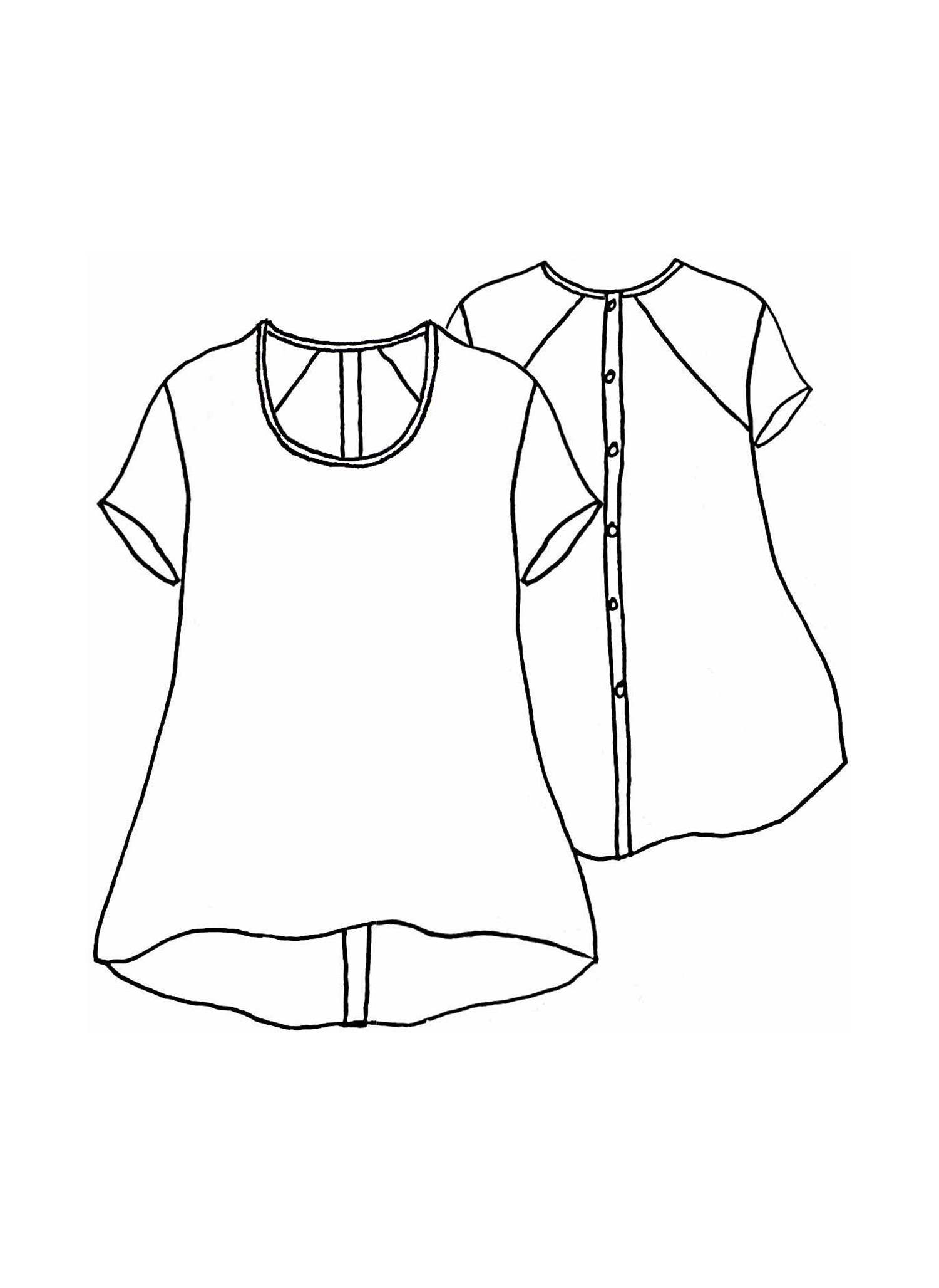 Blossom Blouse sketch image