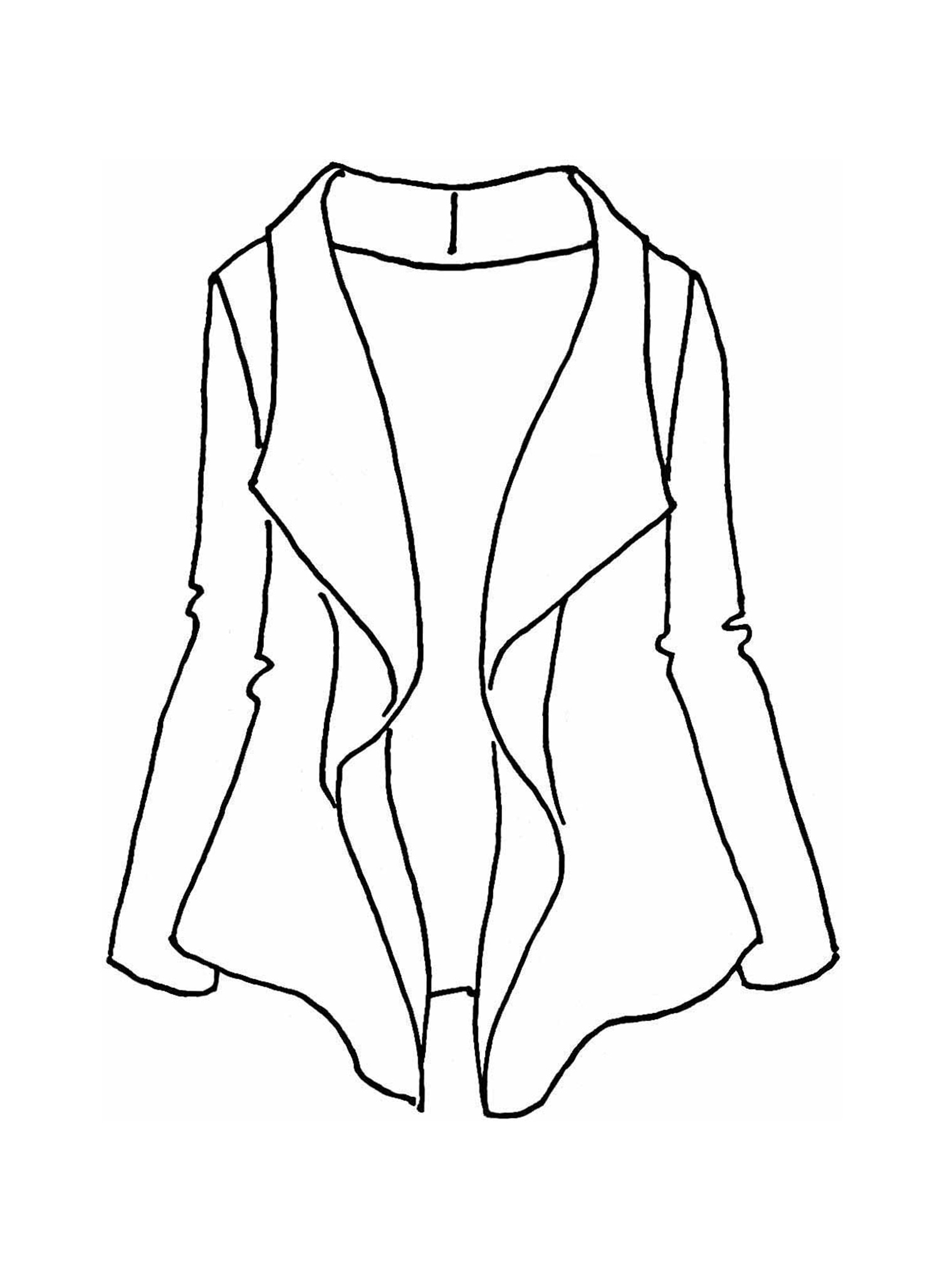 Draping Caper sketch image