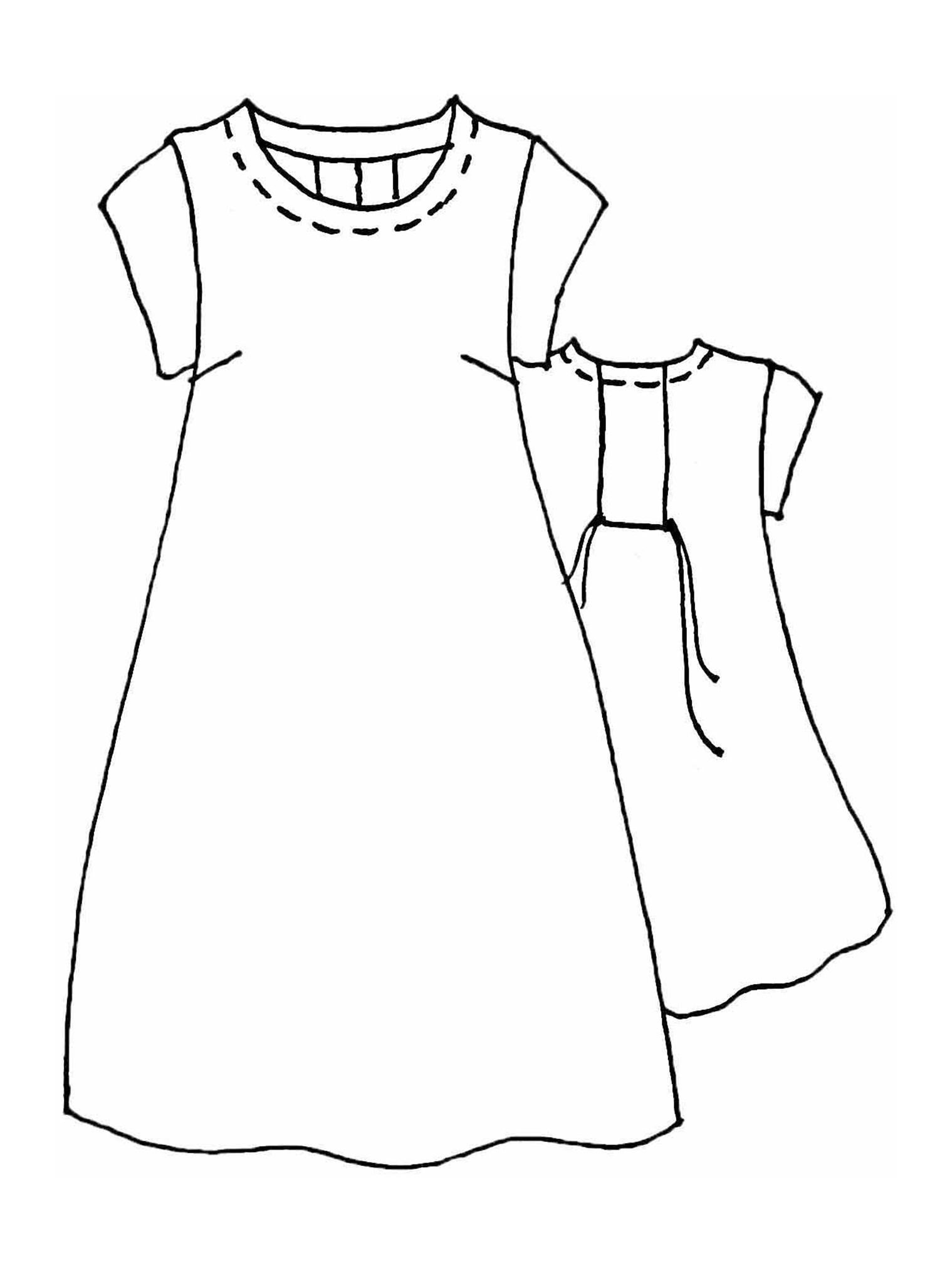 Tuck Back Dress sketch image