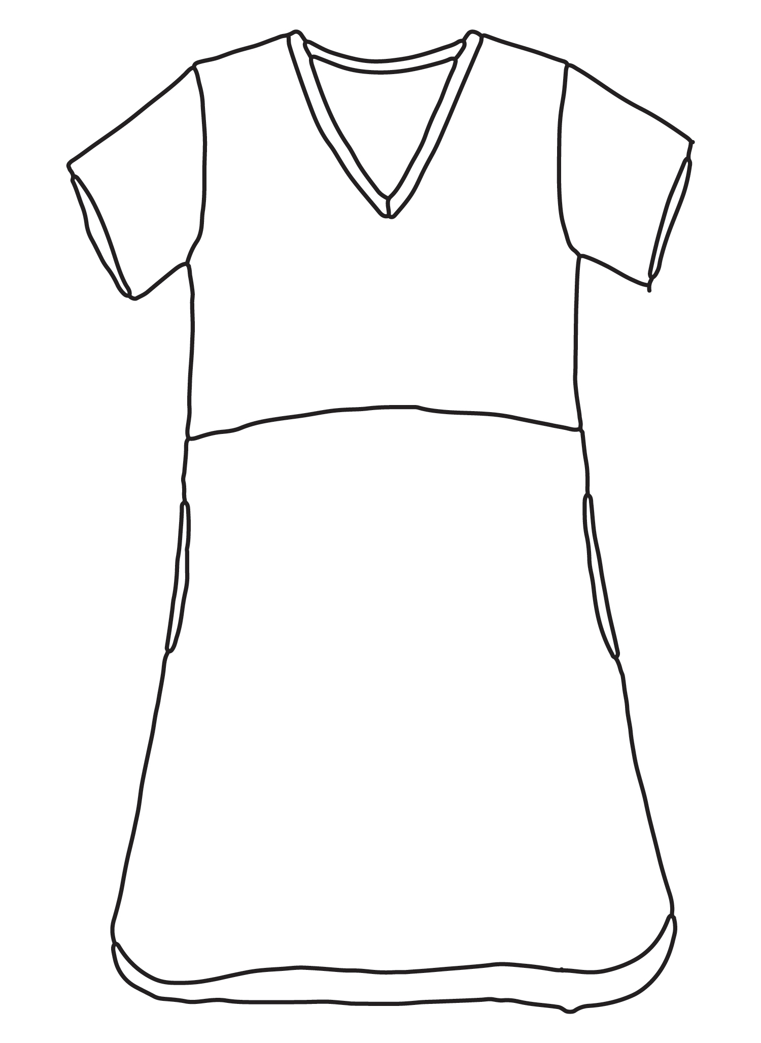 Tee Shirt Dress sketch image