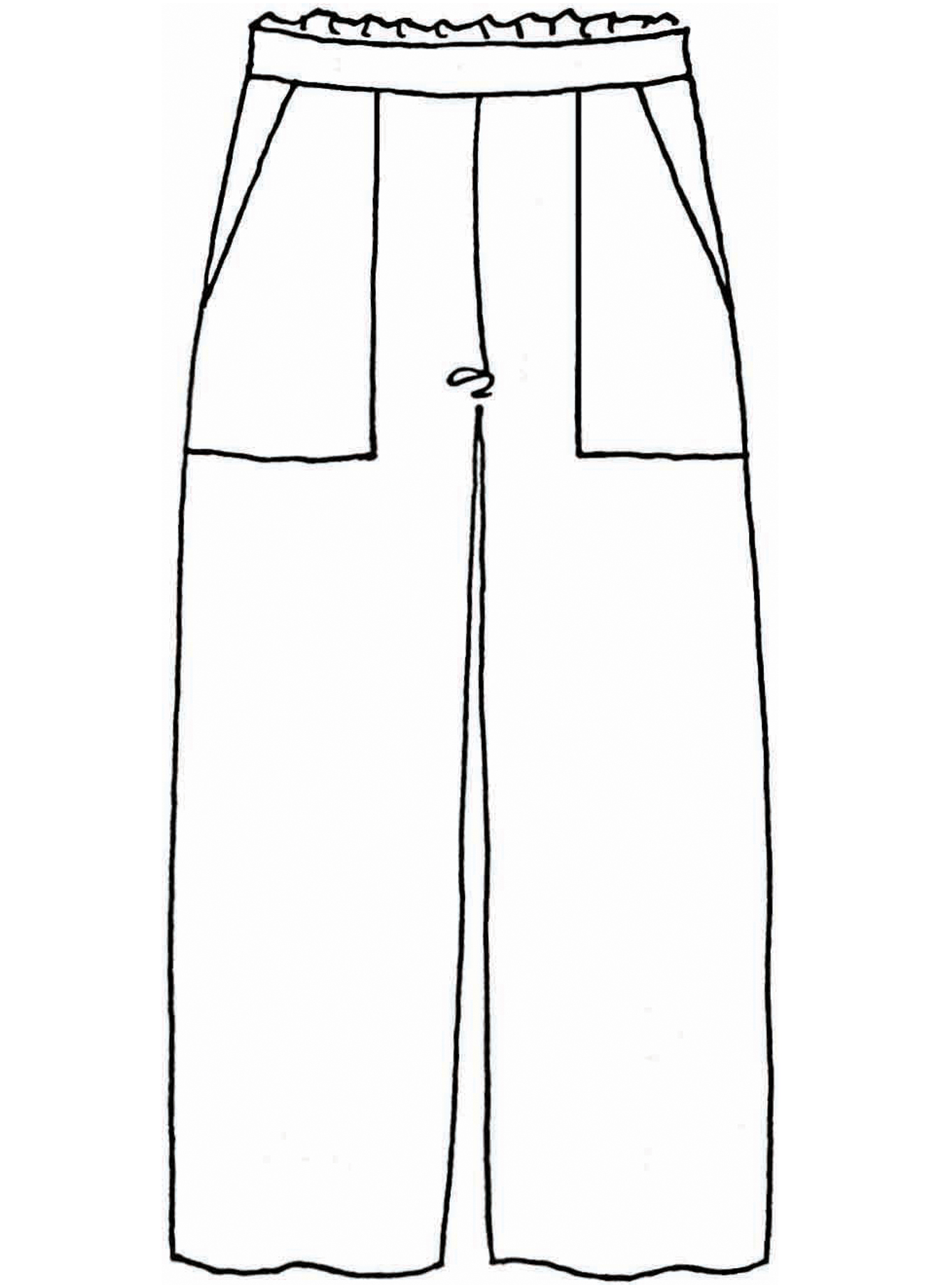 Crop Pant sketch image