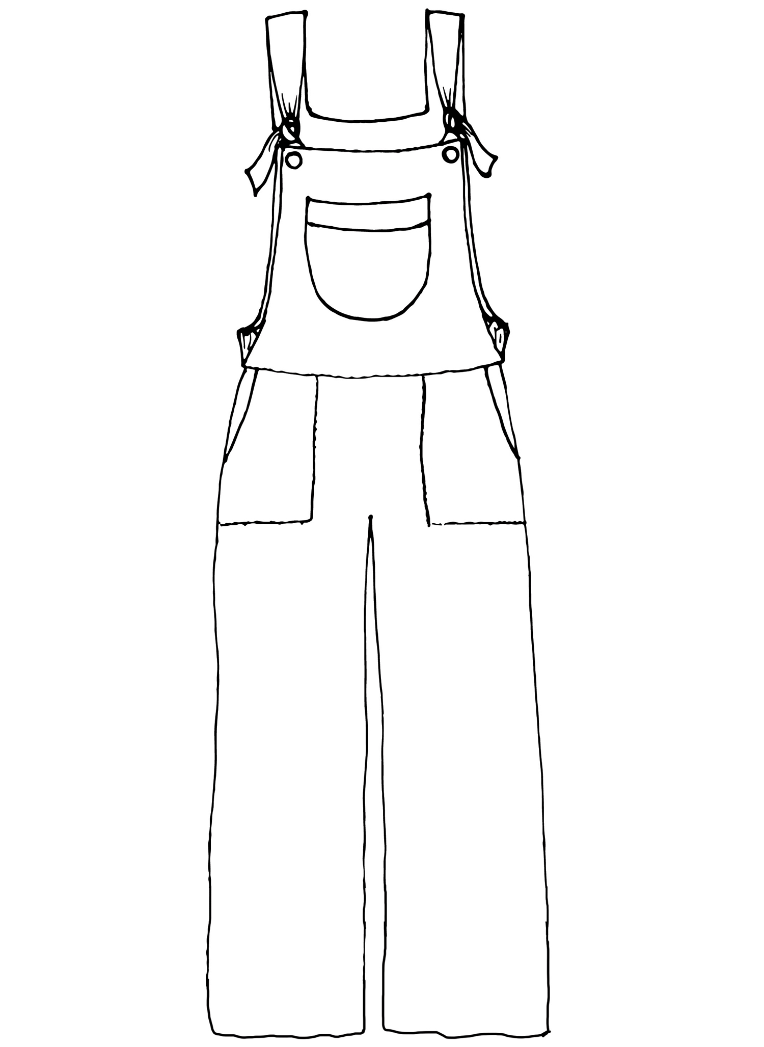 Overalls sketch image