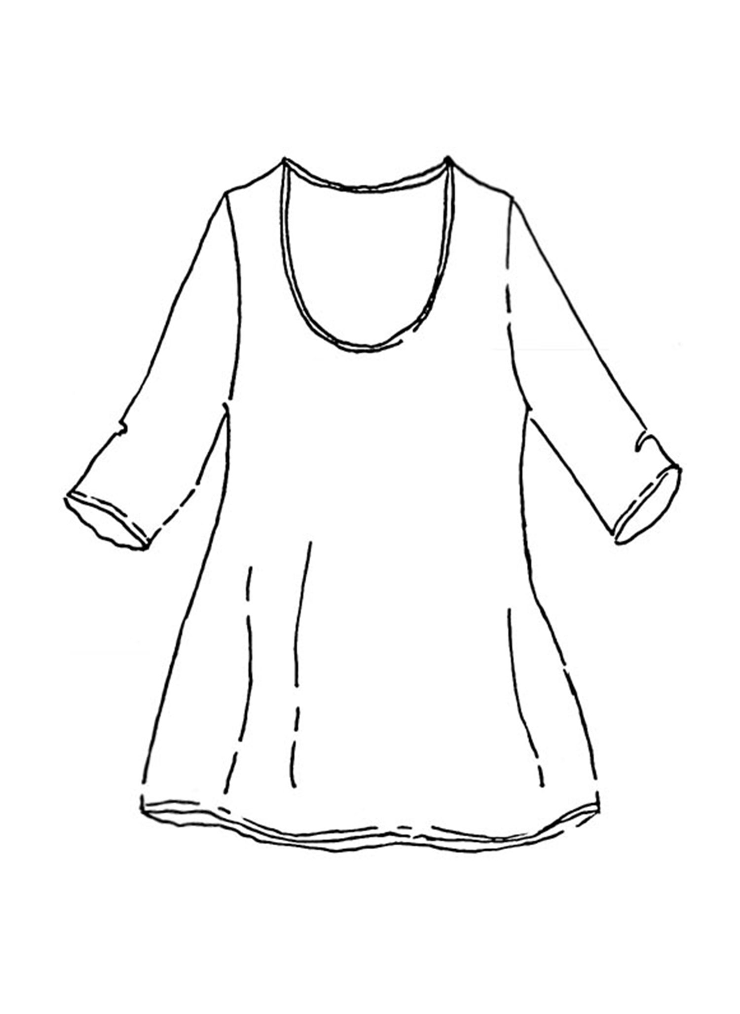 3/4 Sleeve Tunic sketch image