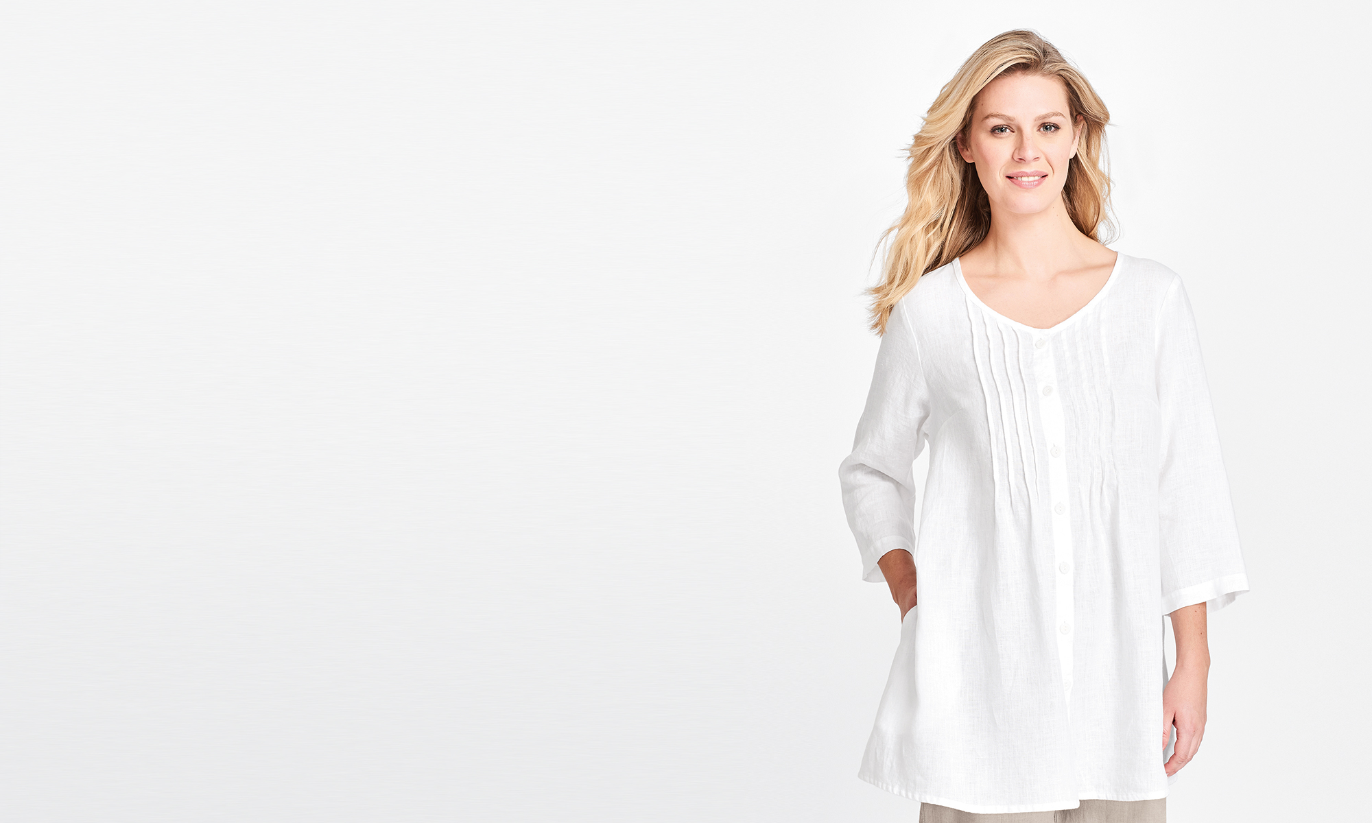 flax womens white linen blouse