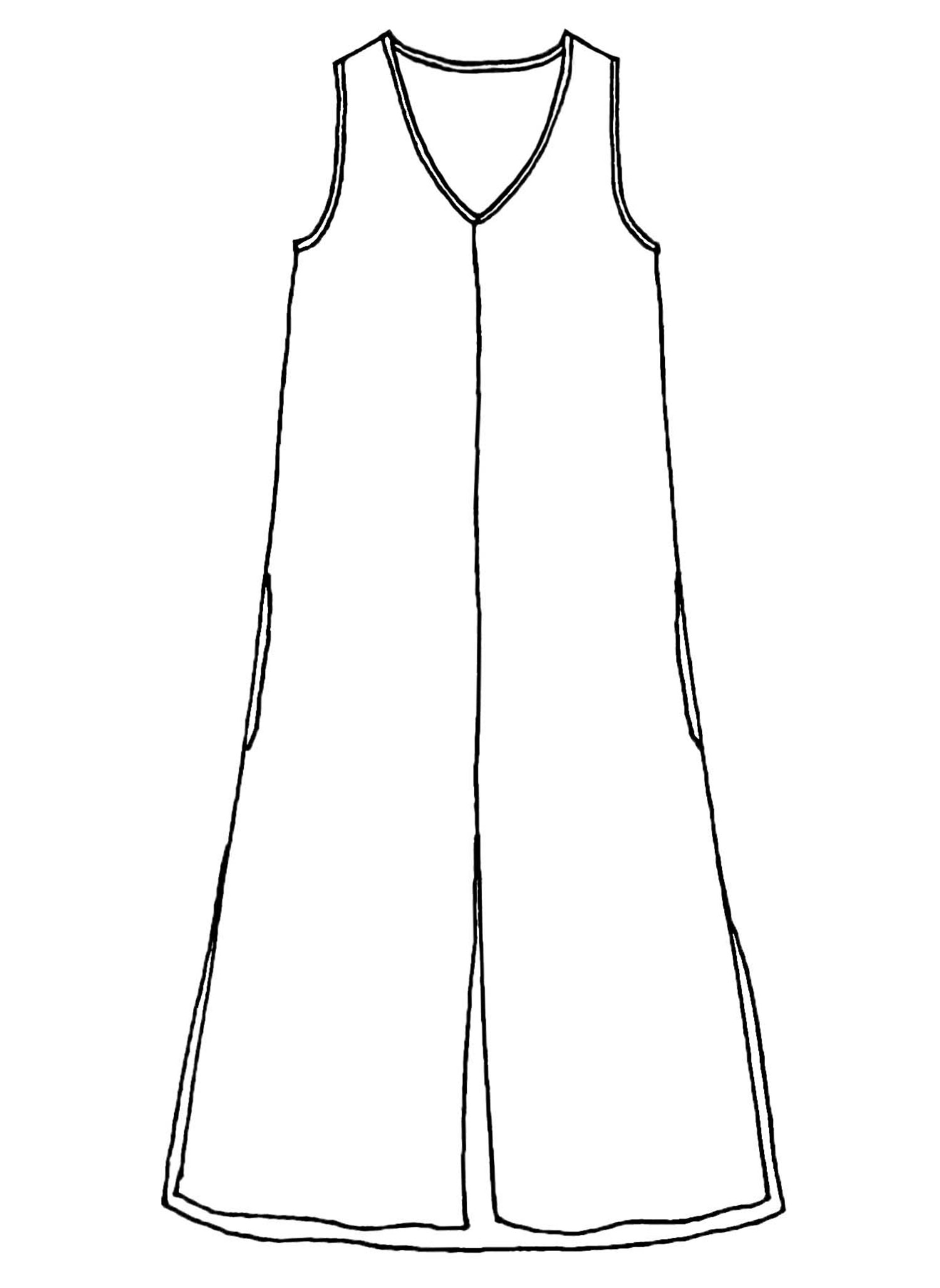 Open Dress sketch image