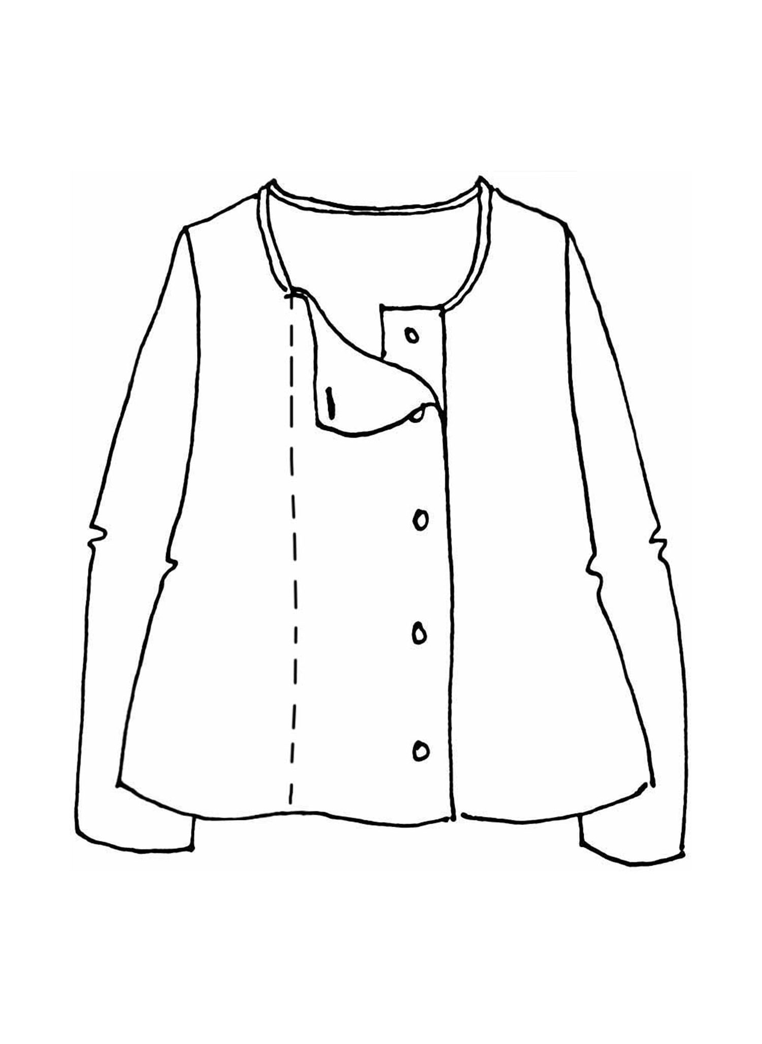 Elemental Cardigan sketch image