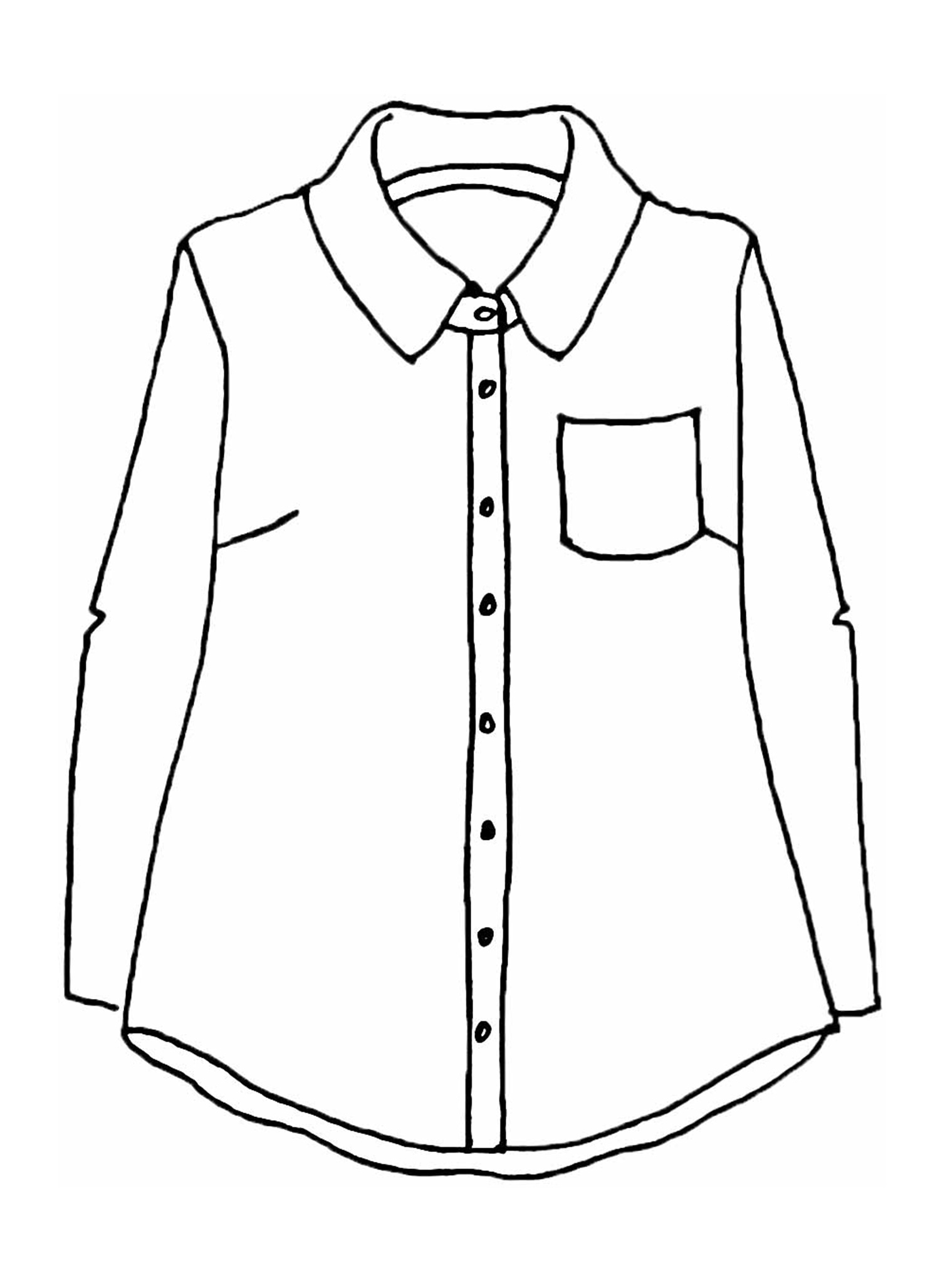 Bias Back Shirt sketch image