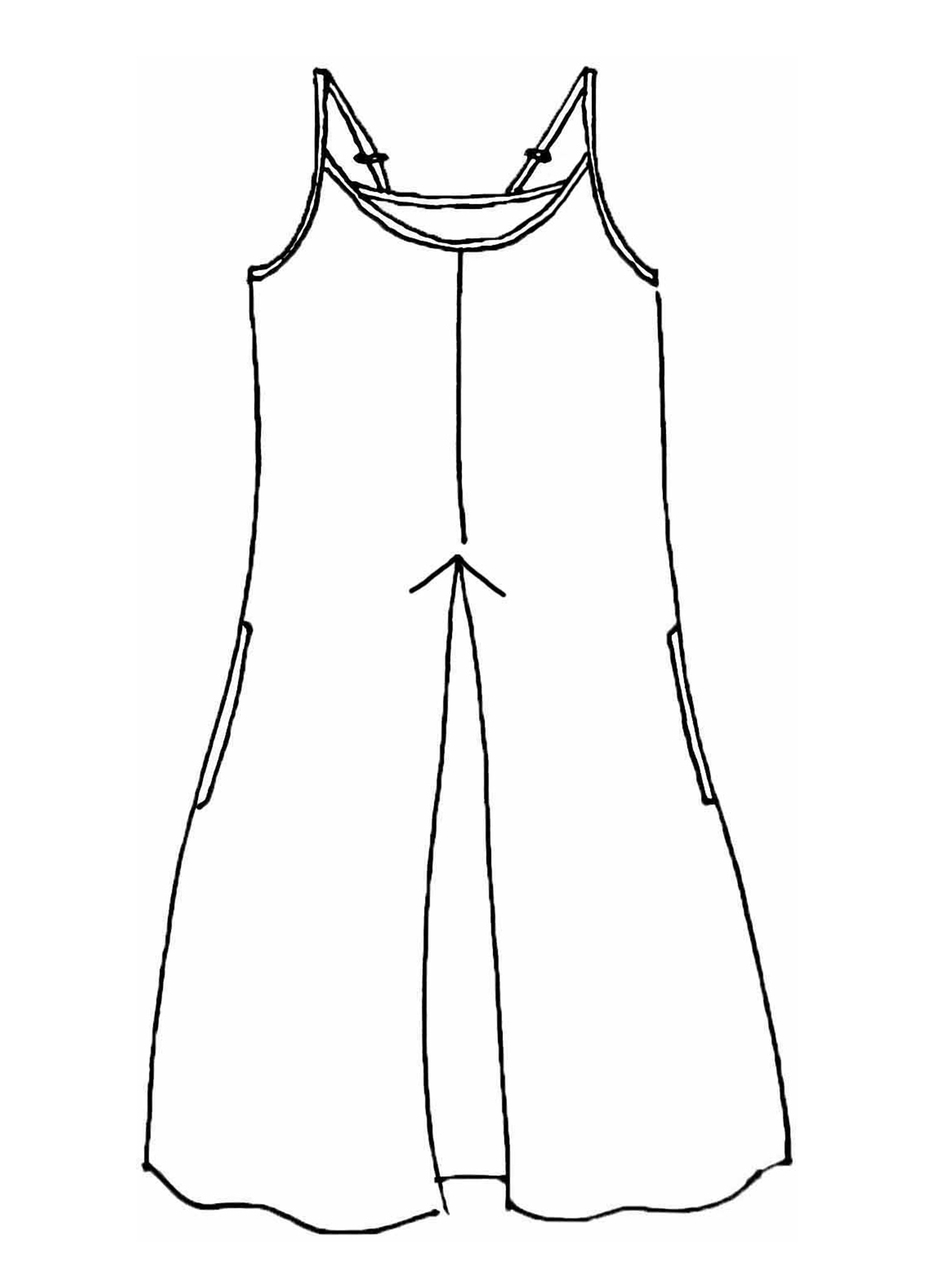 Pleated Dress sketch image