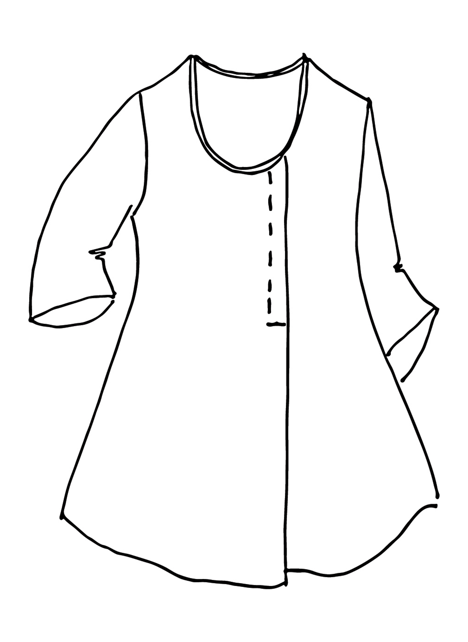 Tucked Tunic sketch image
