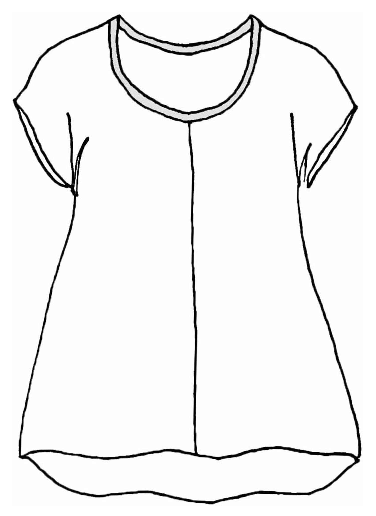Feather Tee sketch image