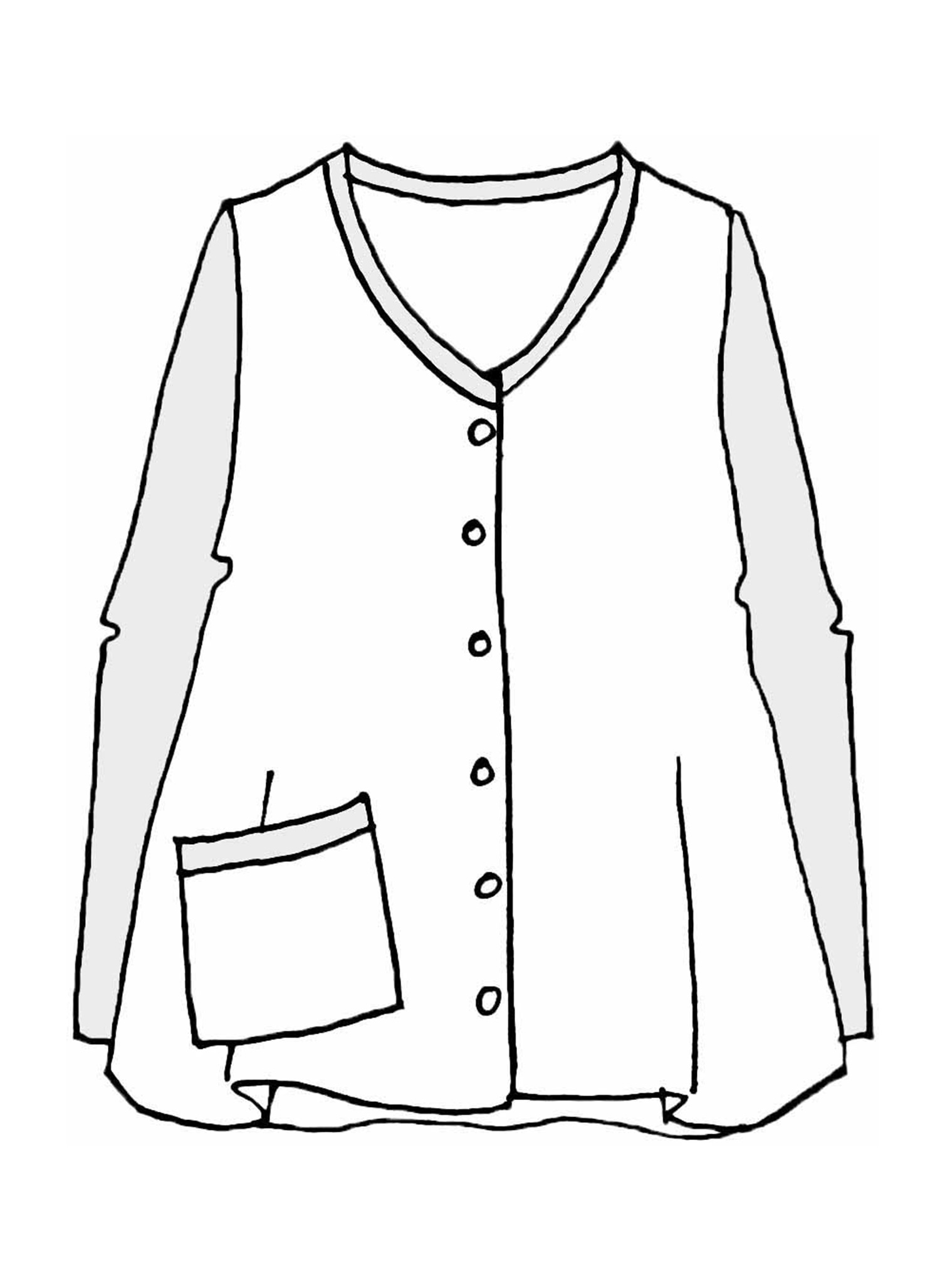 Grassroots Cardigan sketch image