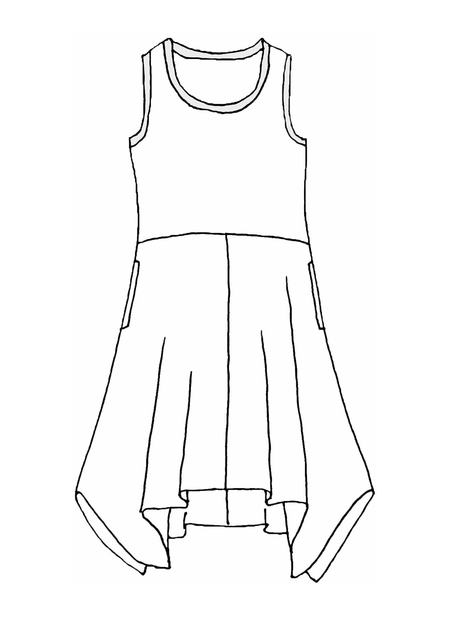 Edgy Dress sketch image
