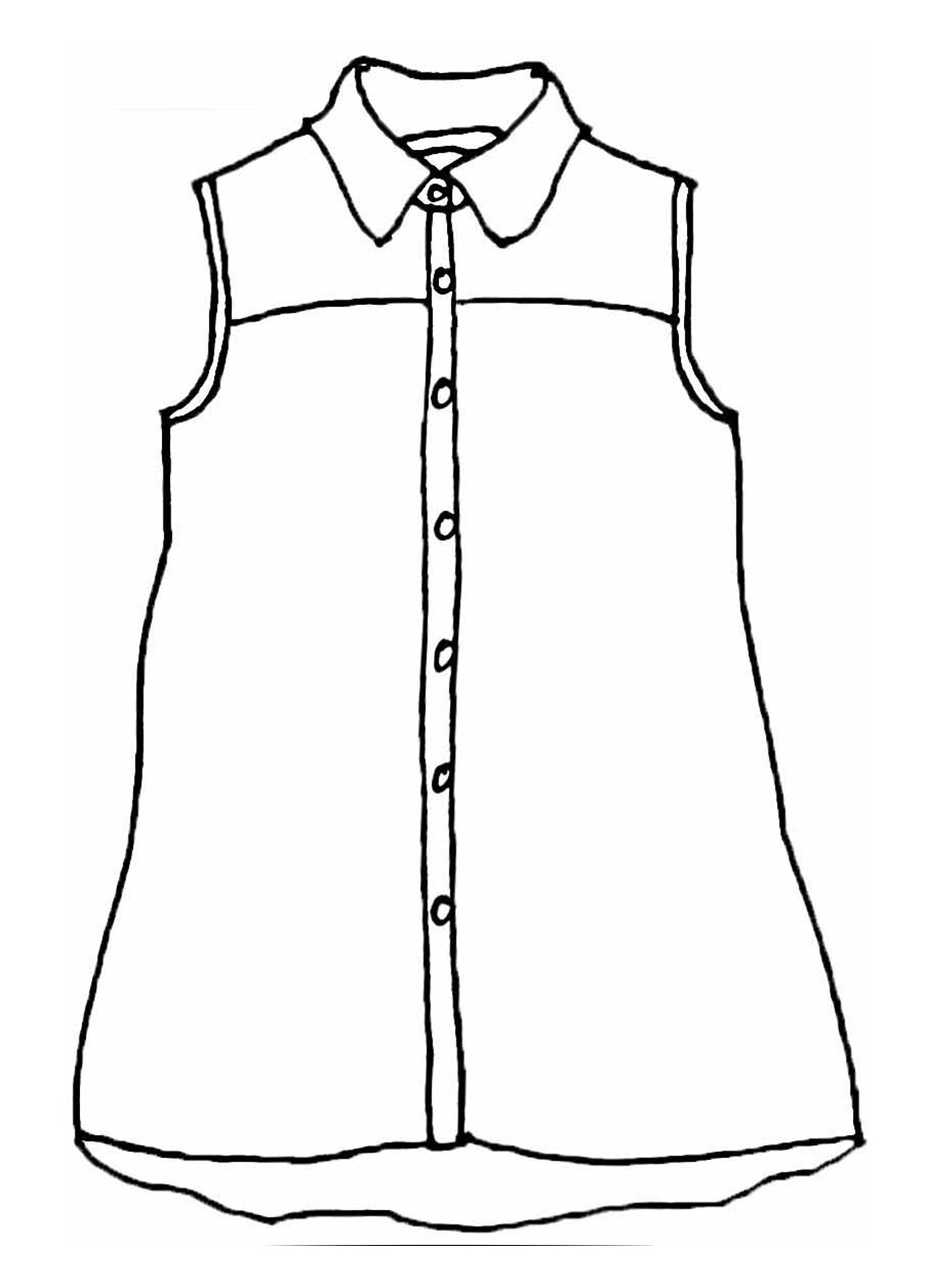 Skyline Blouse sketch image