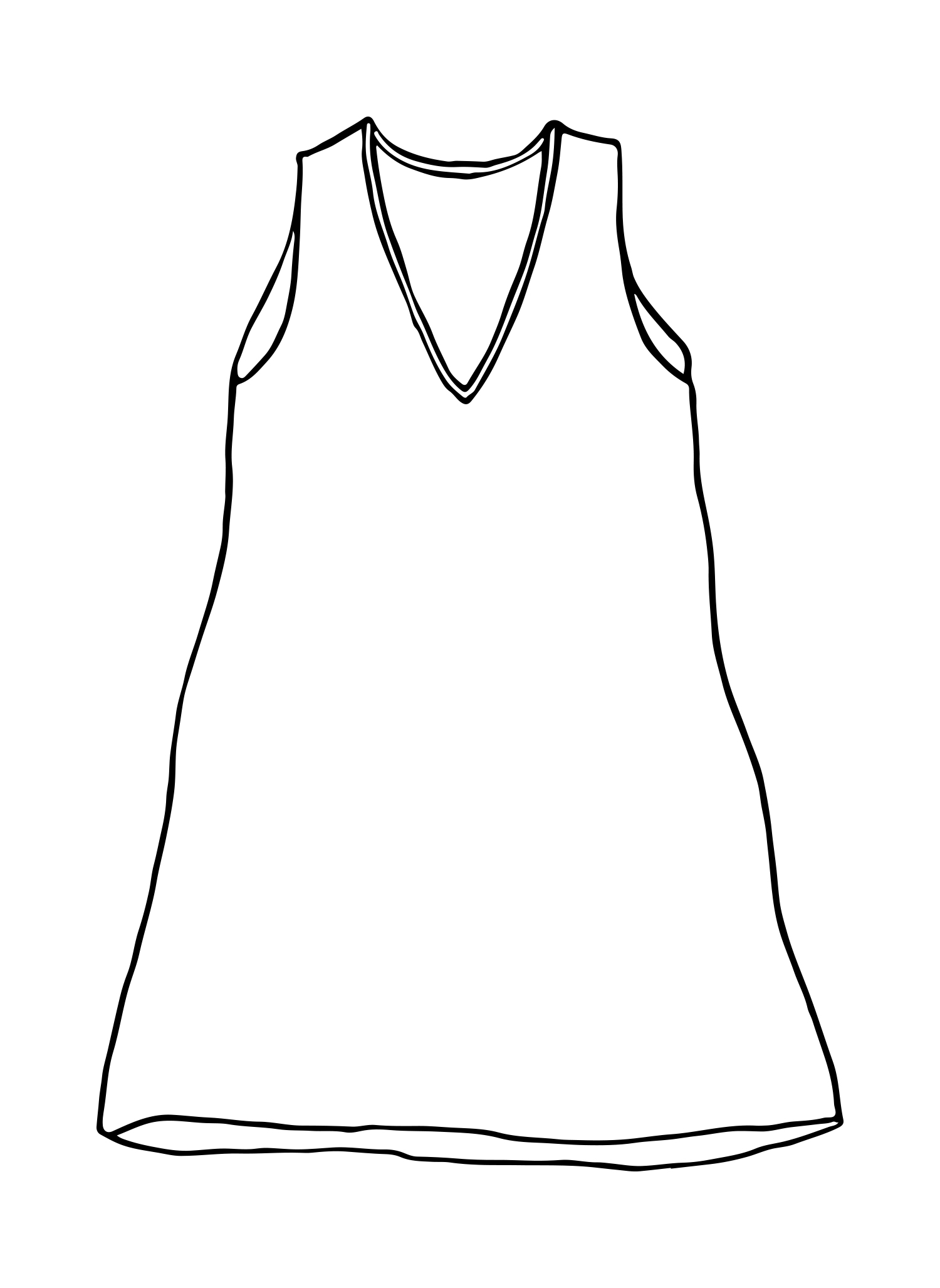 Long V-Neck Tank sketch image