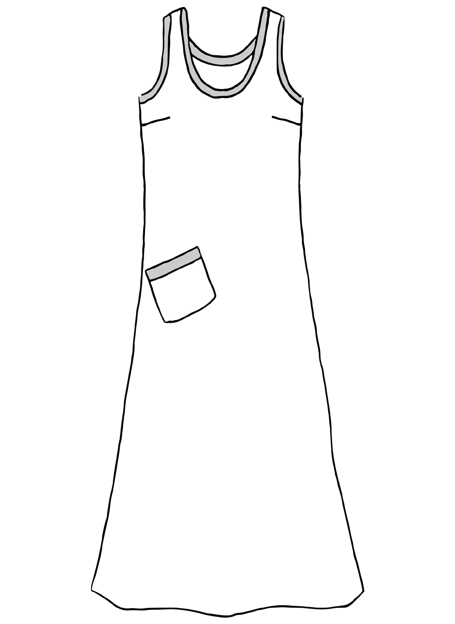 Serene Dress sketch image