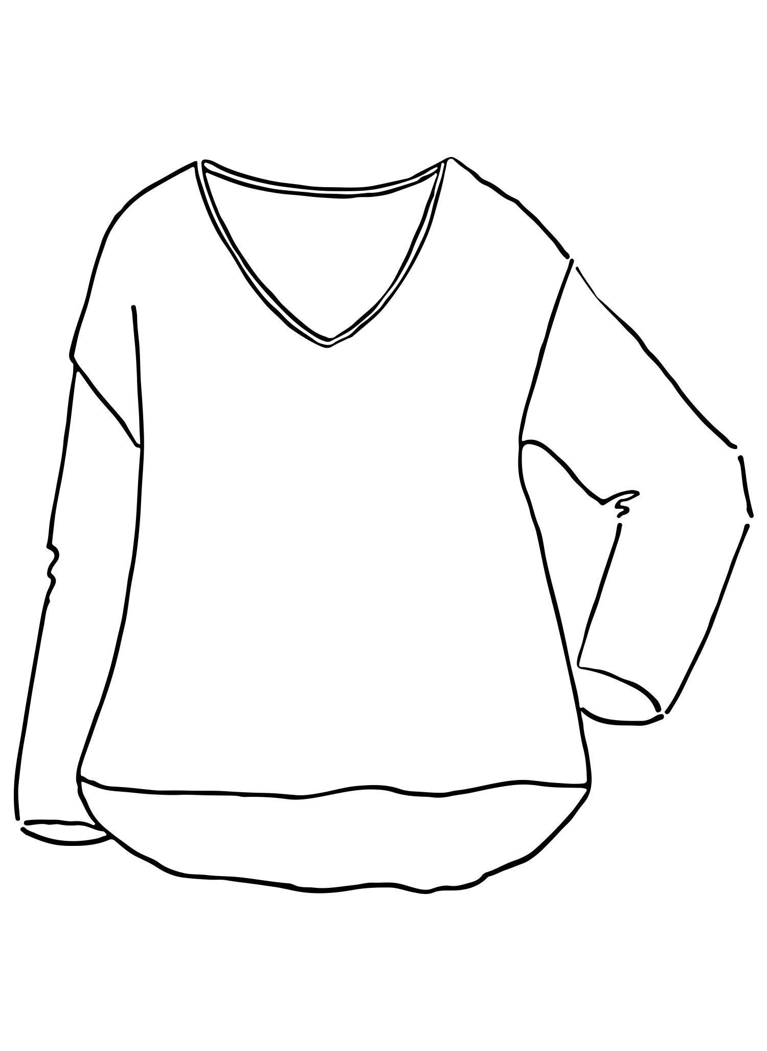 Whispy Pullover sketch image