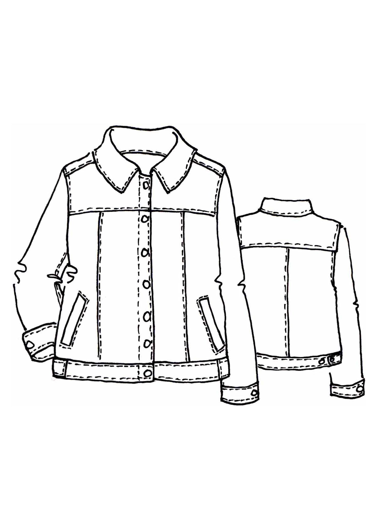 Jean Jacket sketch image