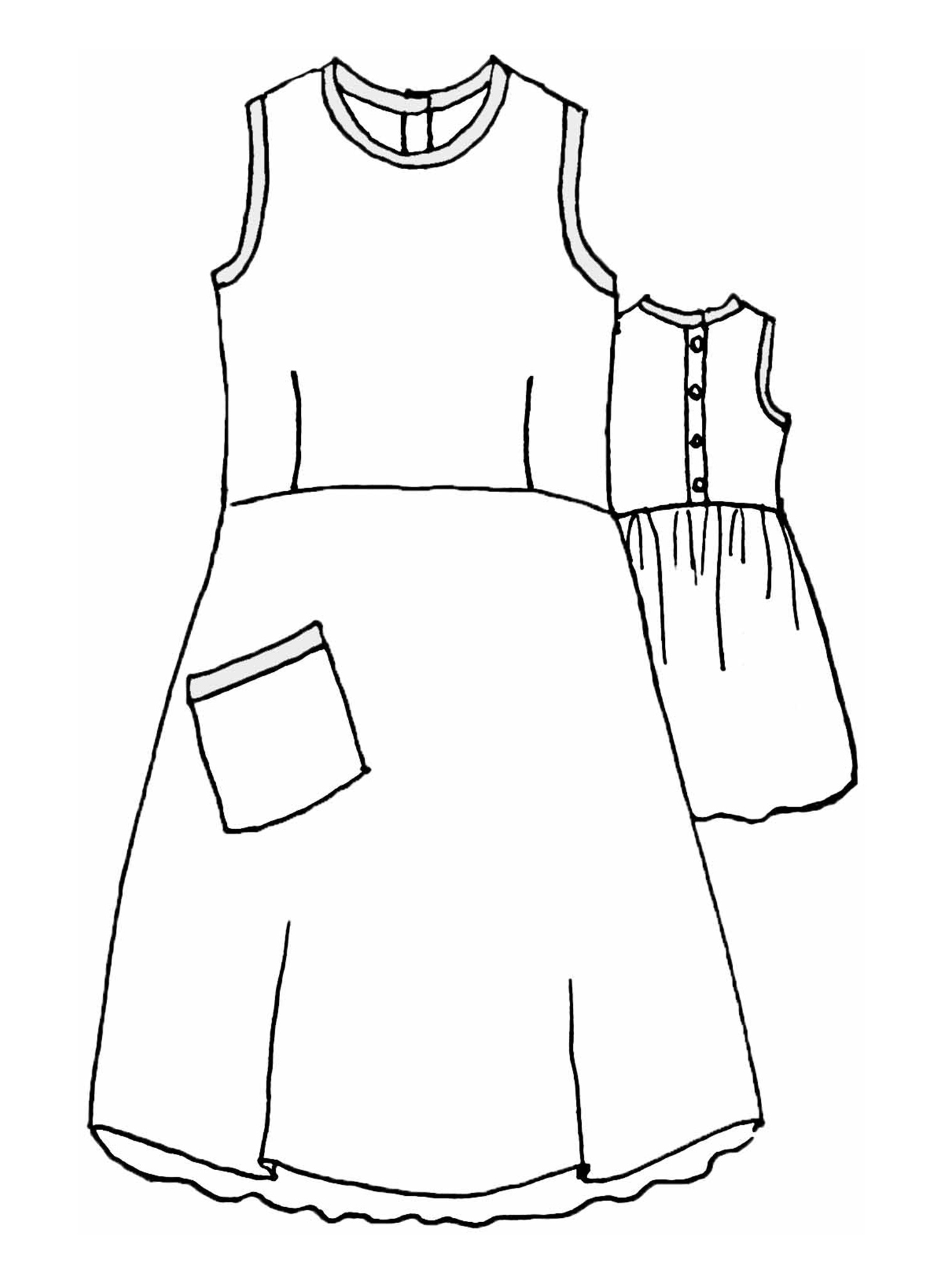 Work/Play Dress sketch image